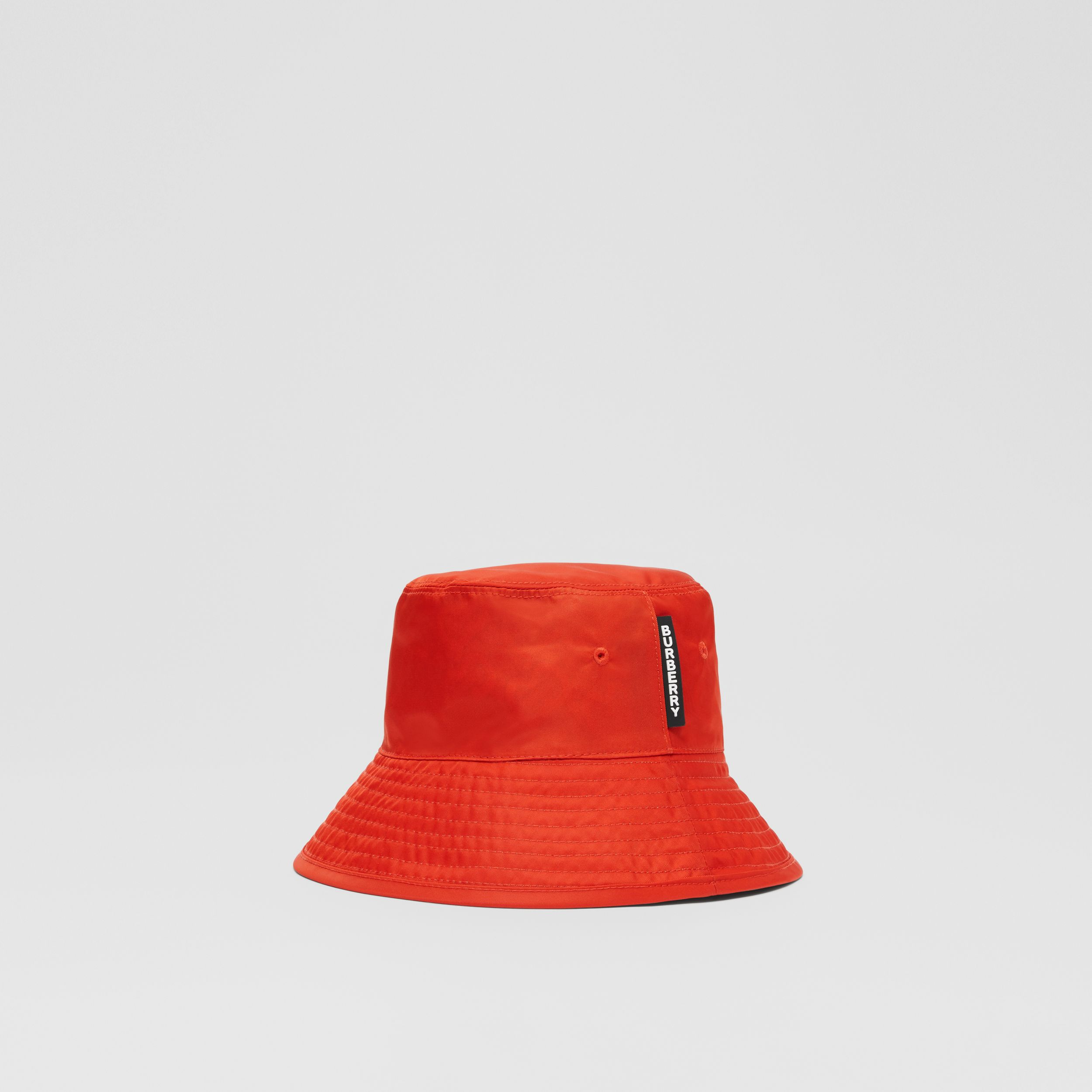 Reversible Monogram Print Bucket Hat in Vermilion - Children | Burberry Hong Kong S.A.R. - 3