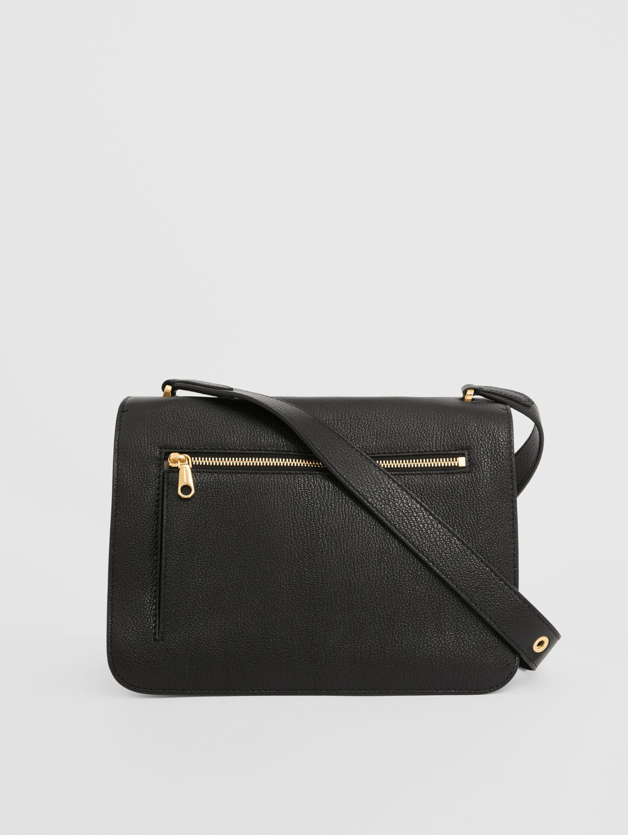 Medium Grainy Leather Alice Bag in Black