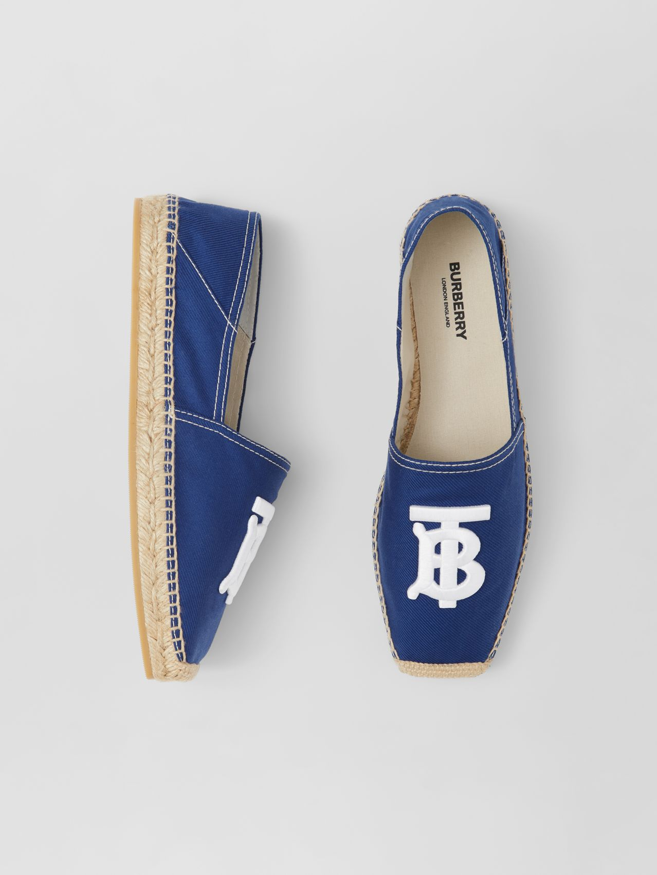 Monogram Motif Cotton Canvas Espadrilles in Navy
