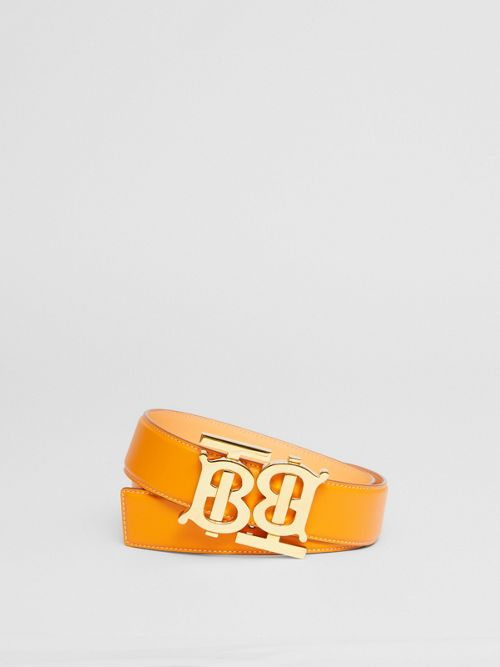 Burberry Double Monogram Motif Leather Belt