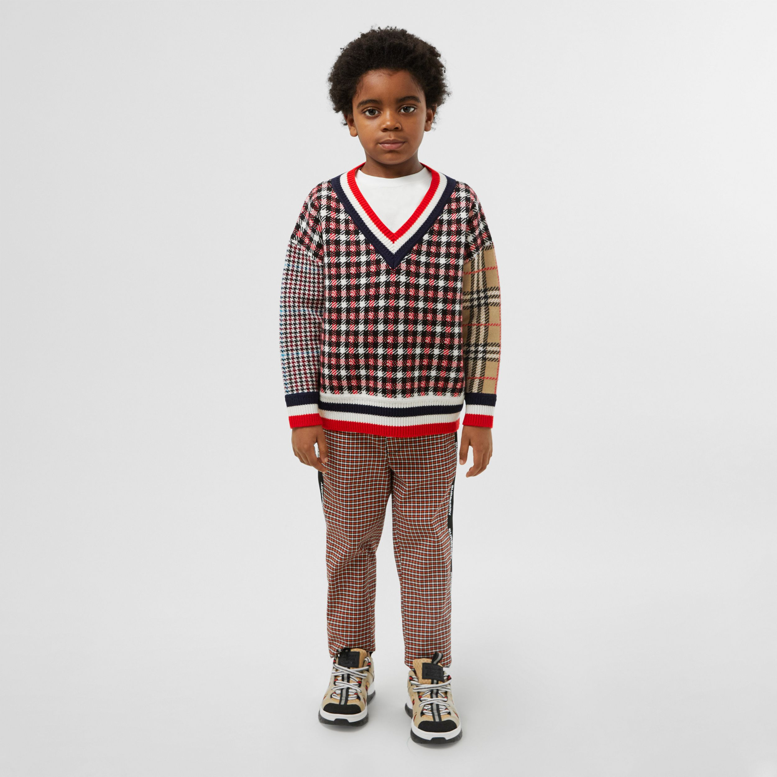 Patchwork Check Merino Wool Sweater | Burberry United States - 3
