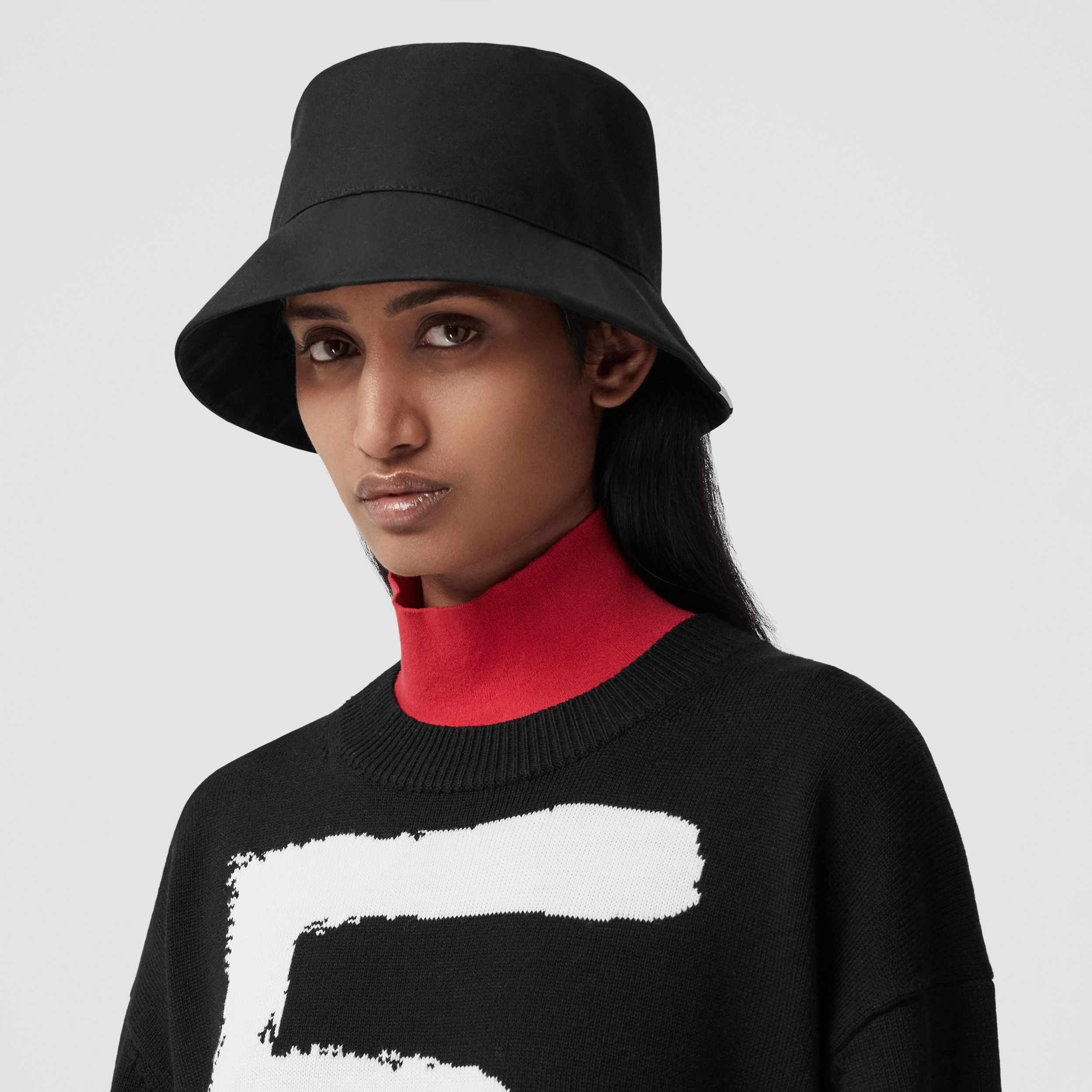 Love Motif Wool Oversized Sweater in Black - Women | Burberry - 2