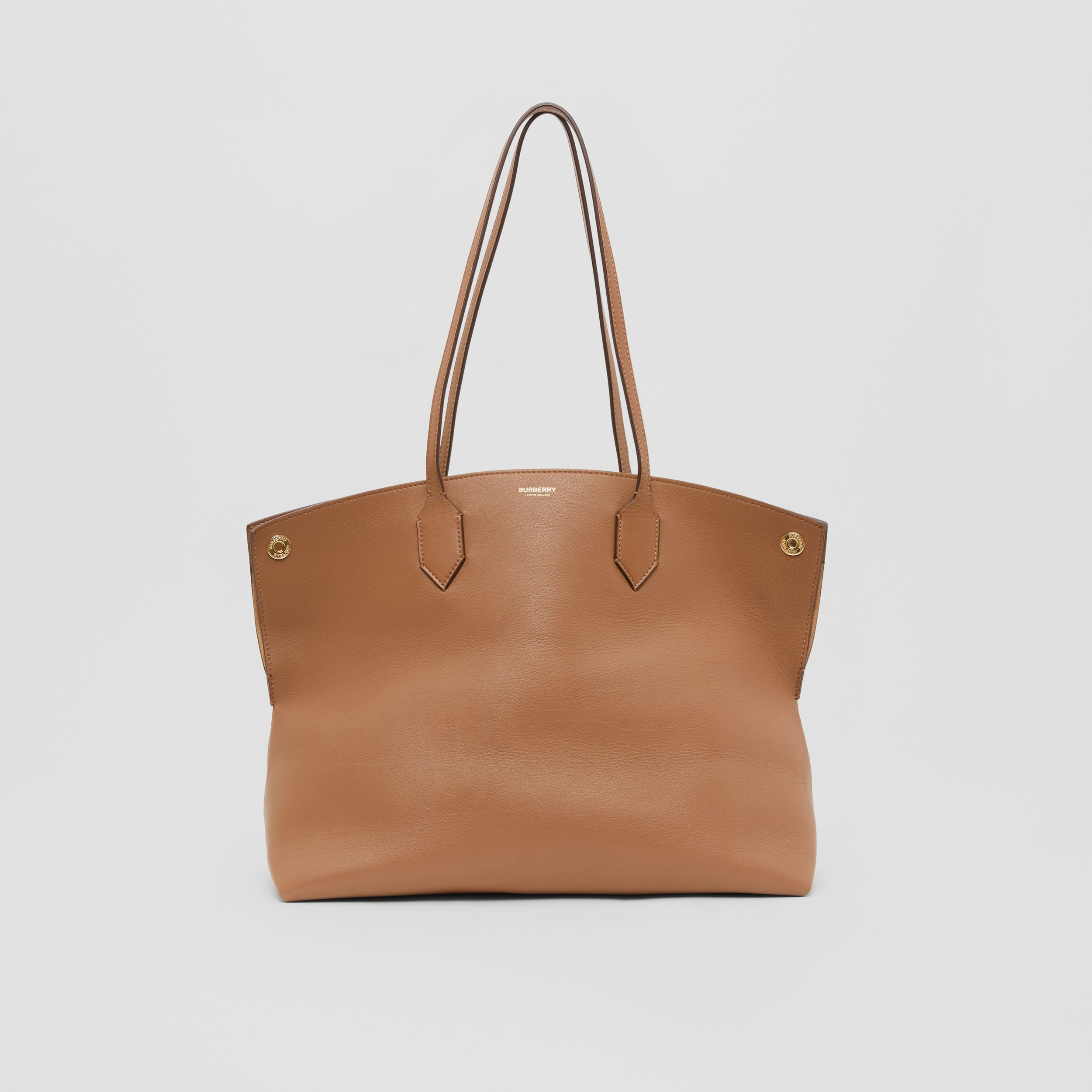 Medium Leather Society Tote in Dusty Caramel - Women | Burberry - 1