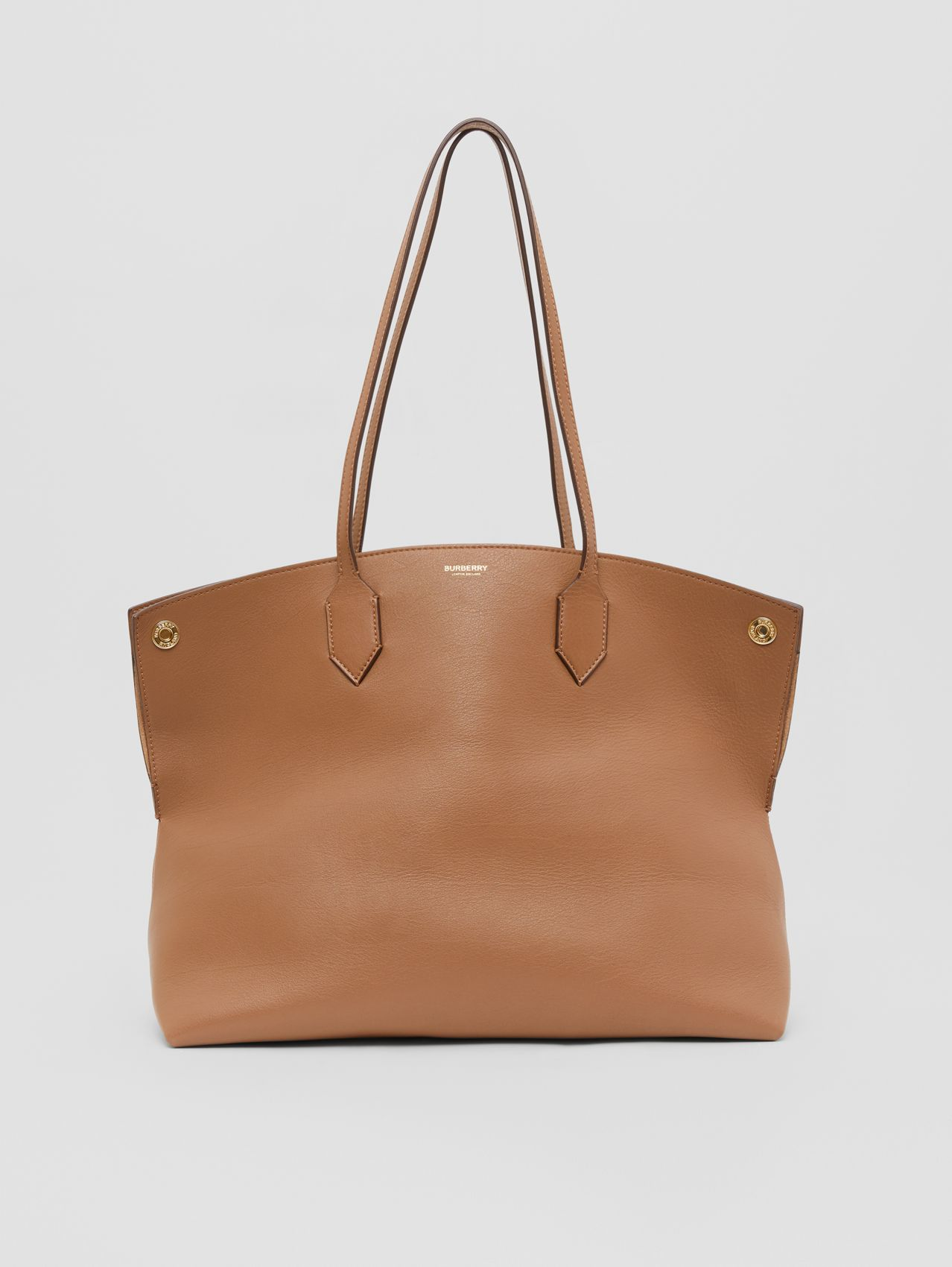 Medium Leather Society Tote in Dusty Caramel