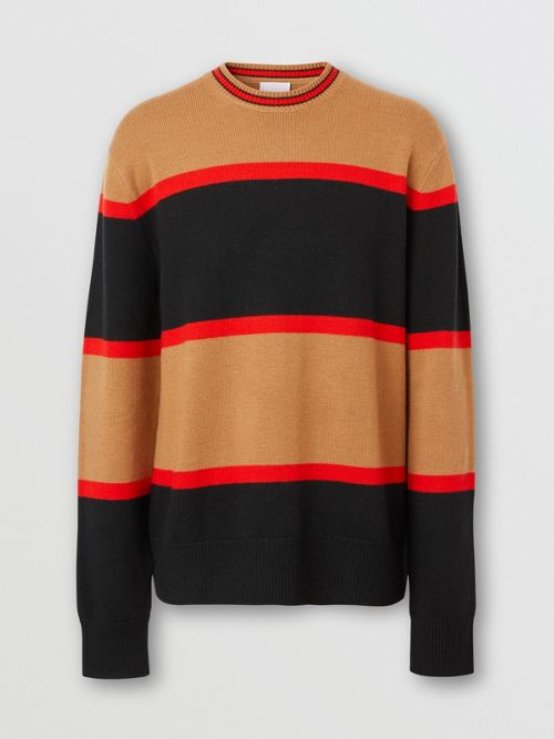 BURBERRY Wools Striped Wool Cashmere Sweater