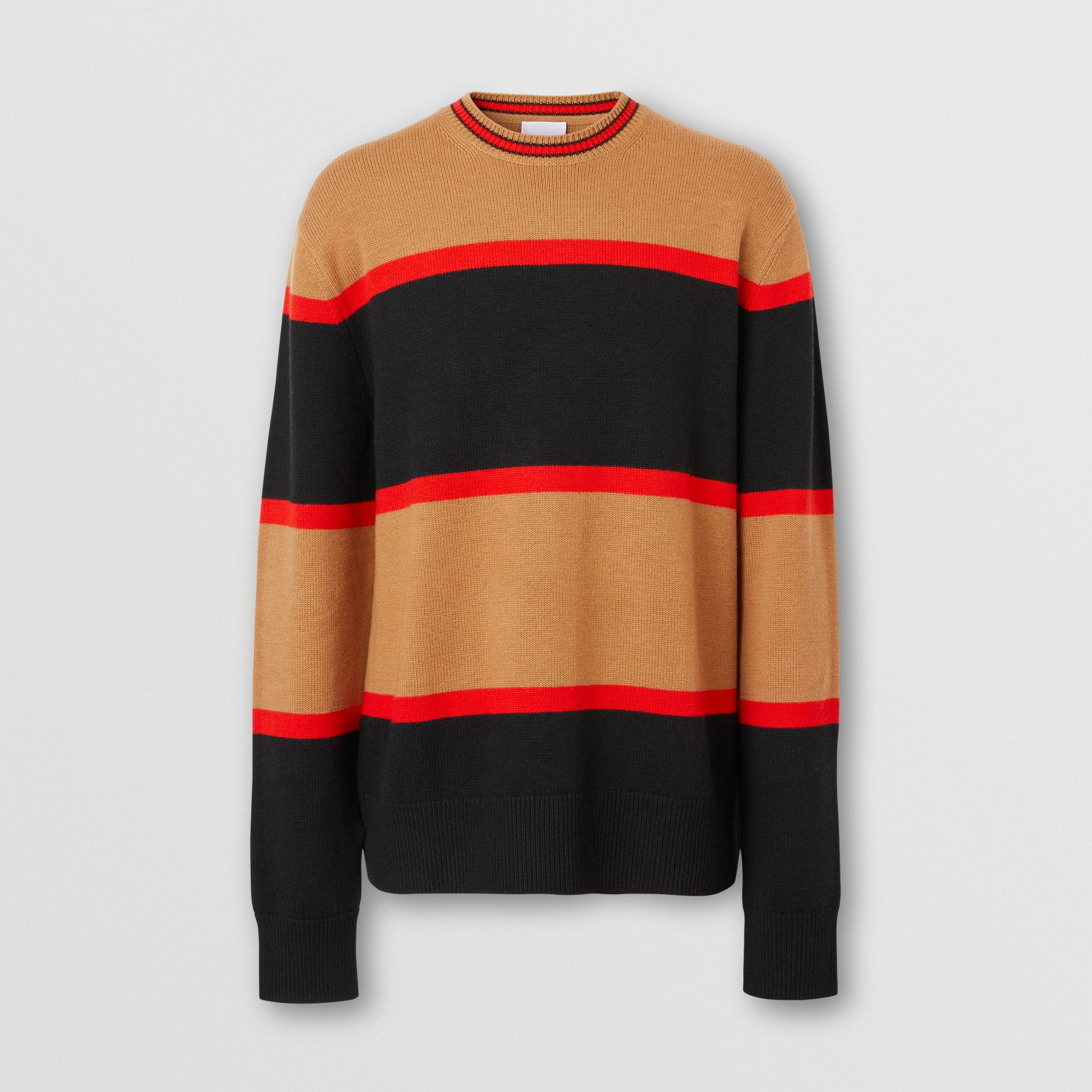 Striped Wool Cashmere Sweater in Black - Men | Burberry - 4