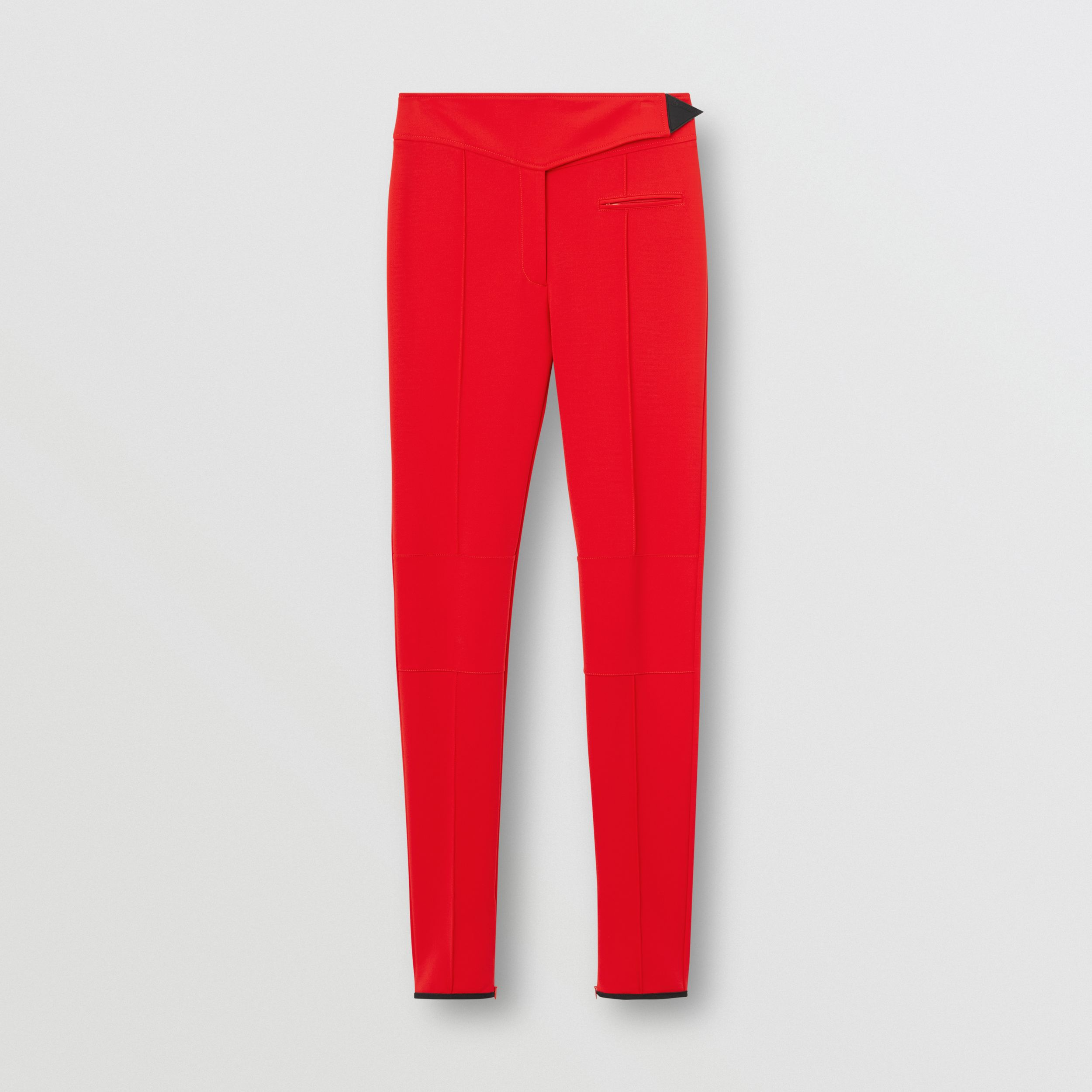 Stretch Crepe Jersey Jodhpurs in Bright Red - Women | Burberry - 4