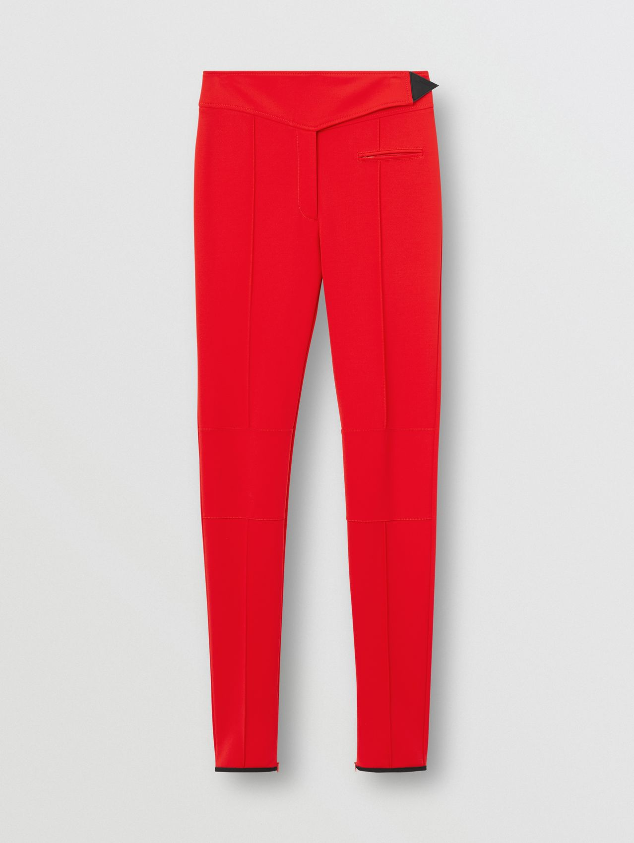 Stretch Crepe Jersey Jodhpurs in Bright Red