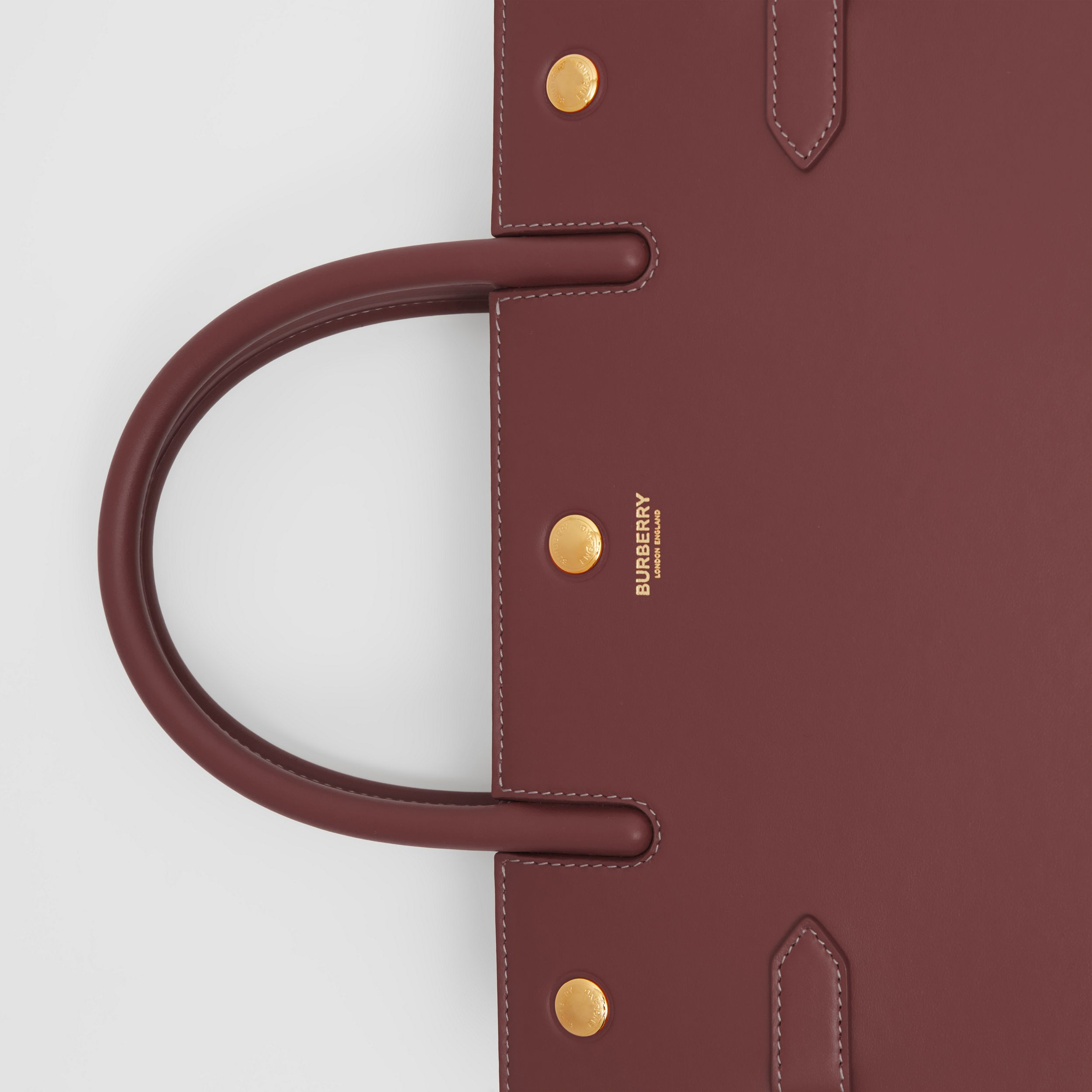 Medium Leather Two-handle Title Bag in Garnet - Women | Burberry Australia - 2