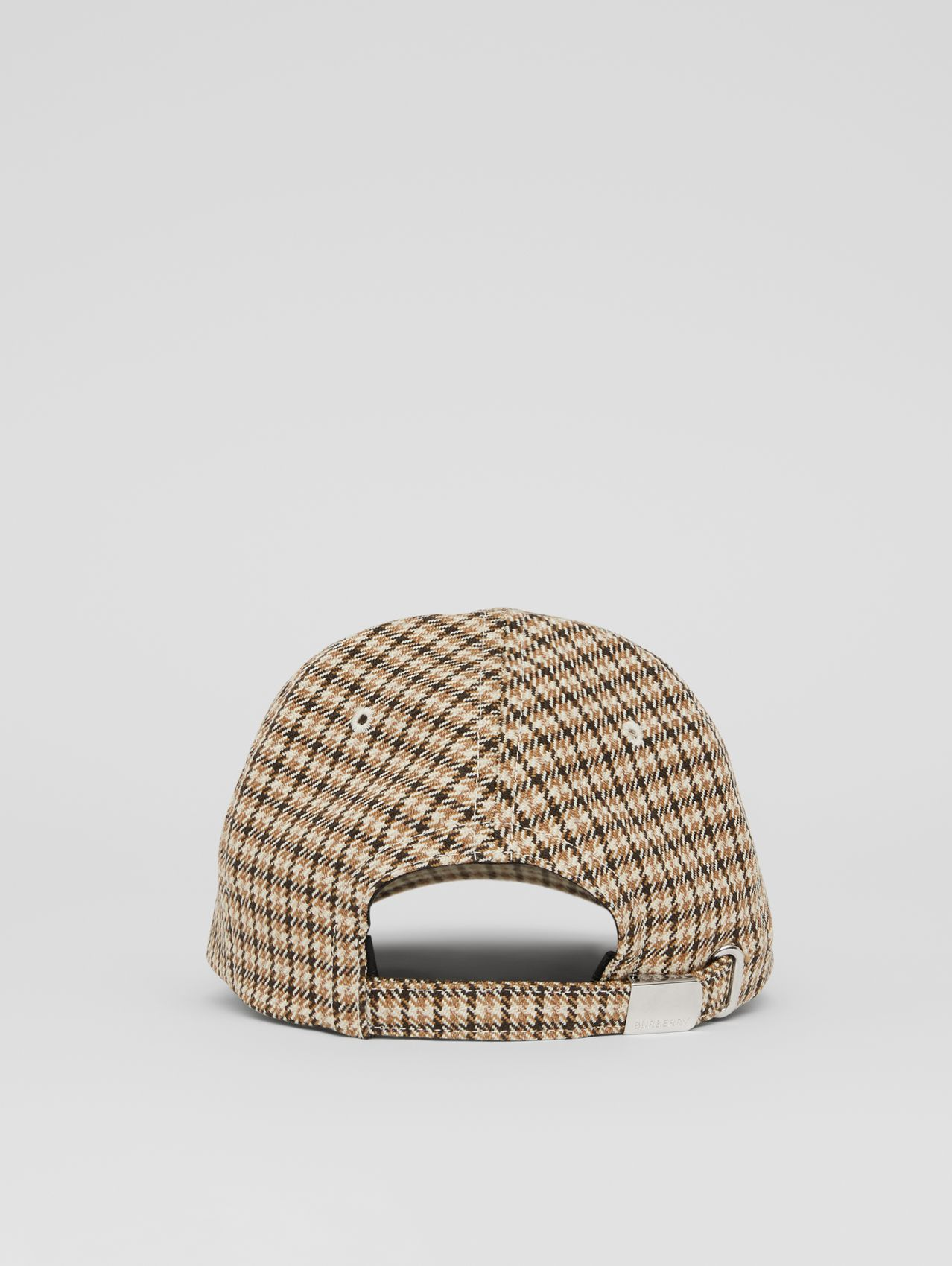 Monogram Motif Houndstooth Check Baseball Cap in Fawn