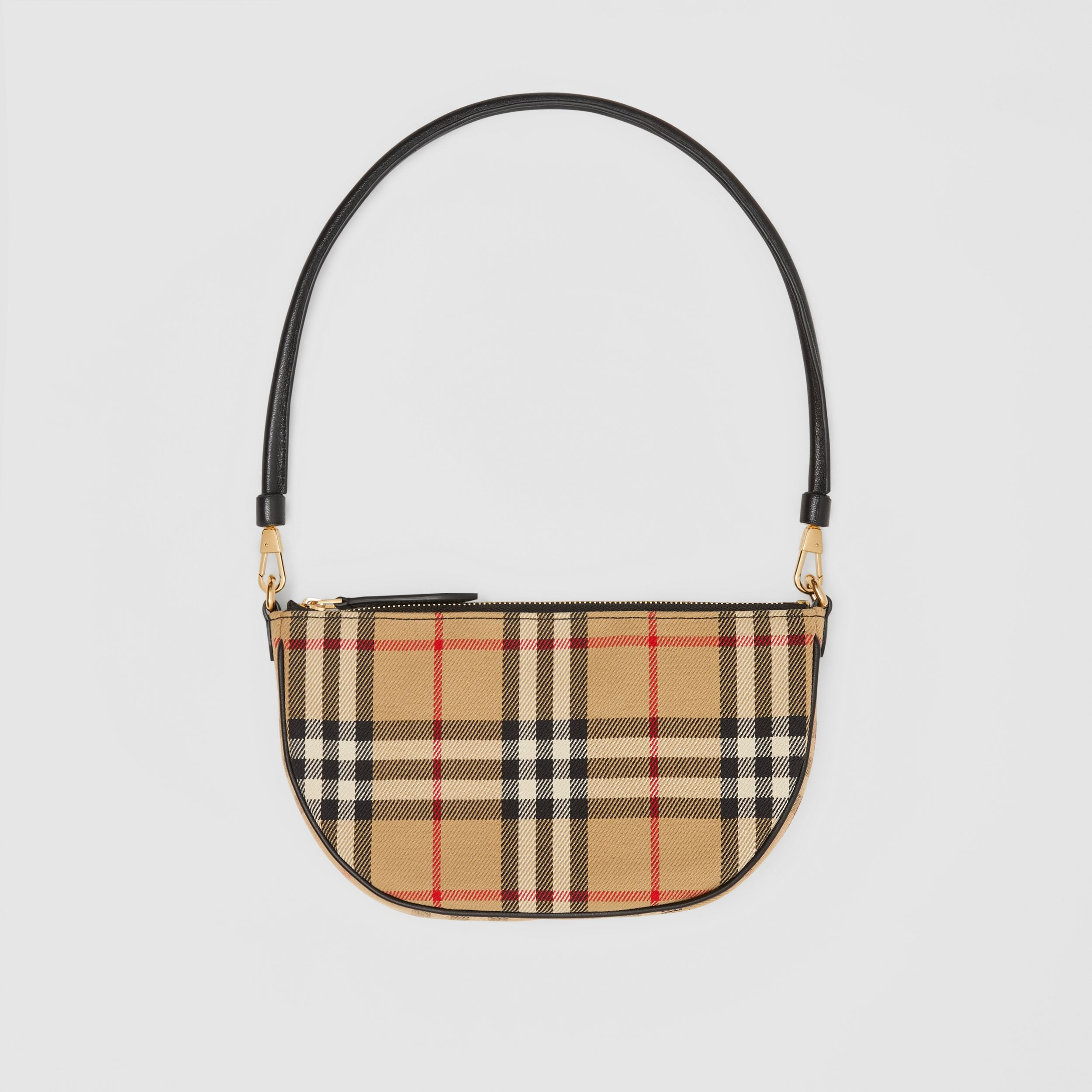 Vintage Check Cotton Olympia Pouch in Archive Beige - Women | Burberry Australia - 1