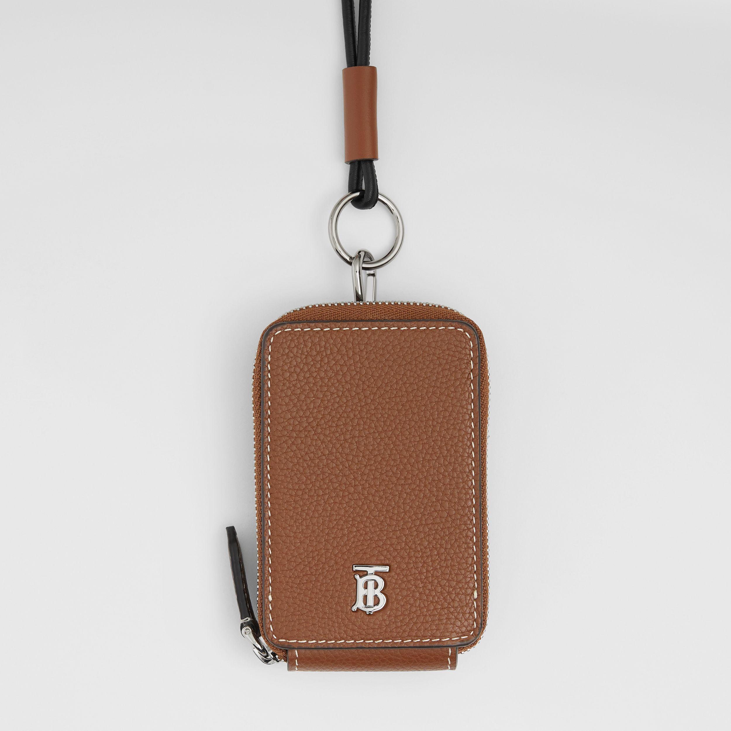 Grainy Leather Card Case Lanyard in Tan - Men | Burberry - 2