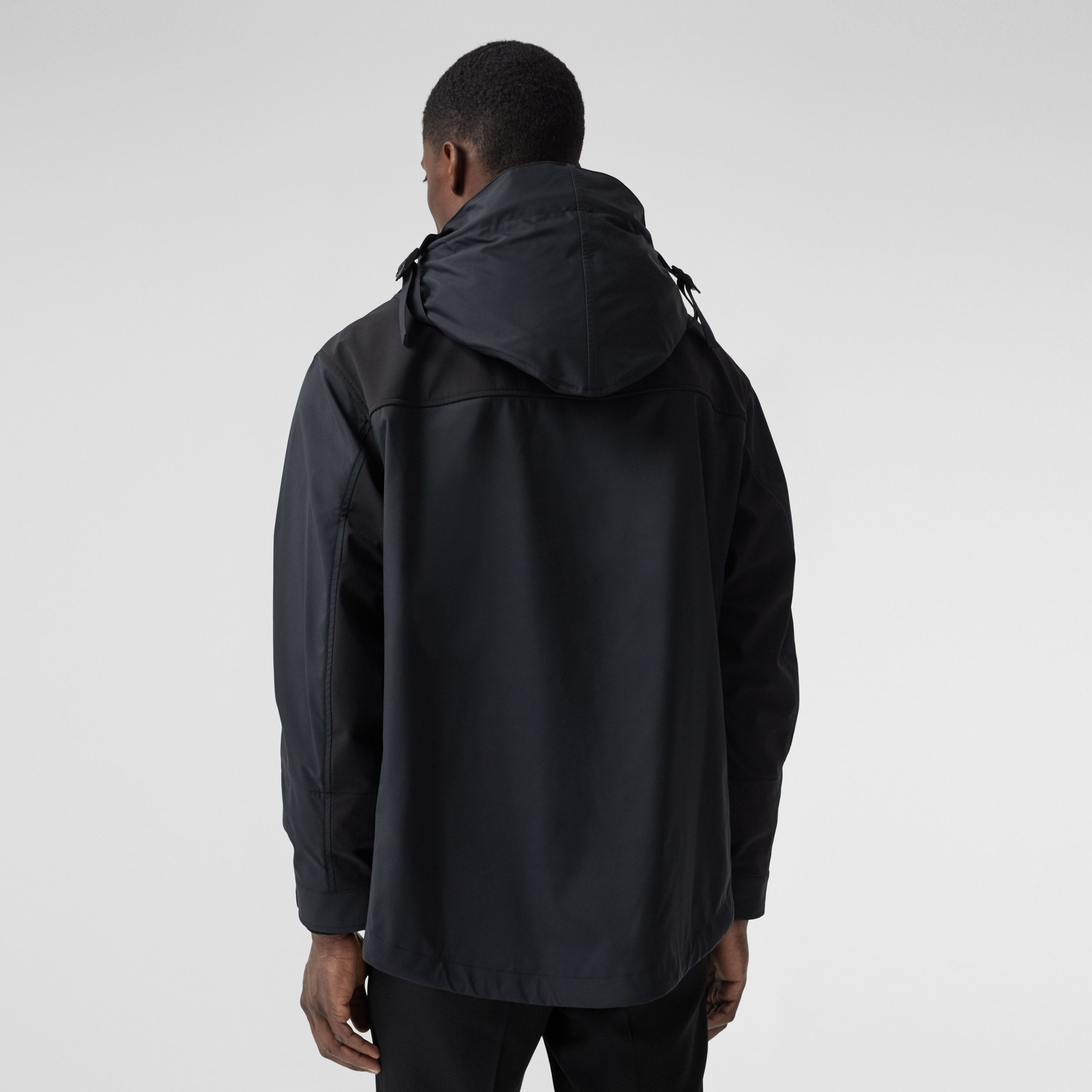 Logo Appliqué Technical Twill Hooded Jacket in Black - Men | Burberry - 3
