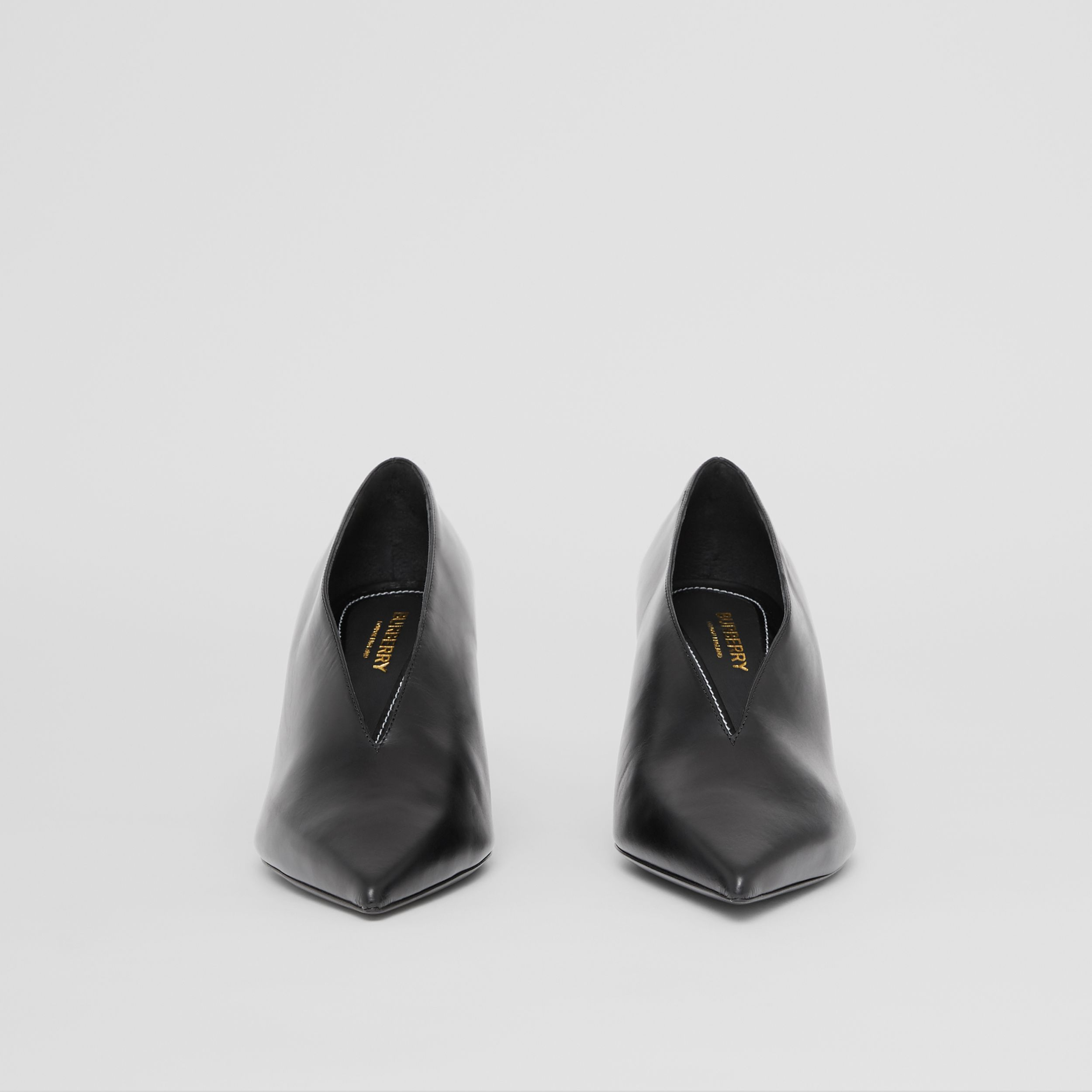 Leather Point-toe Pumps in Black - Women | Burberry Canada - 4