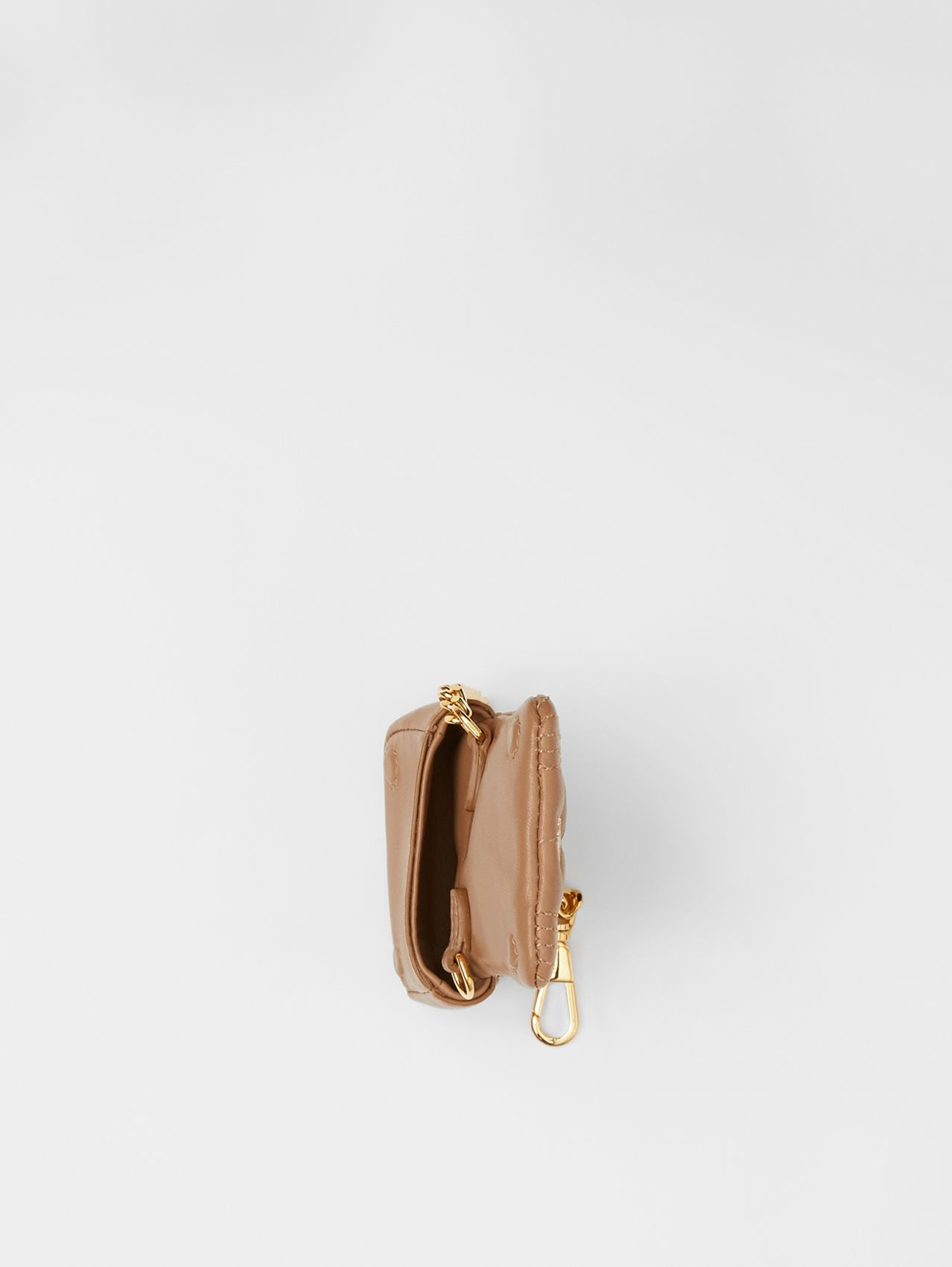 Quilted Lambskin AirPods Pro Case in Camel