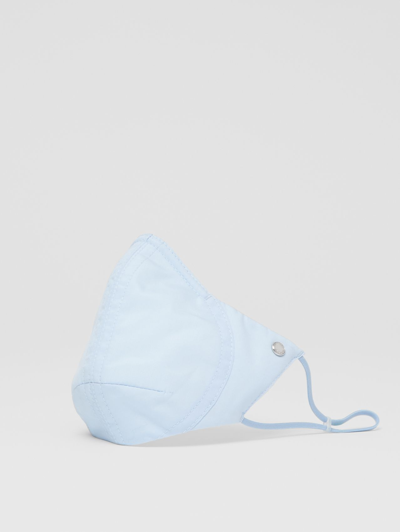 Logo Detail Cotton Face Mask in Pale Blue