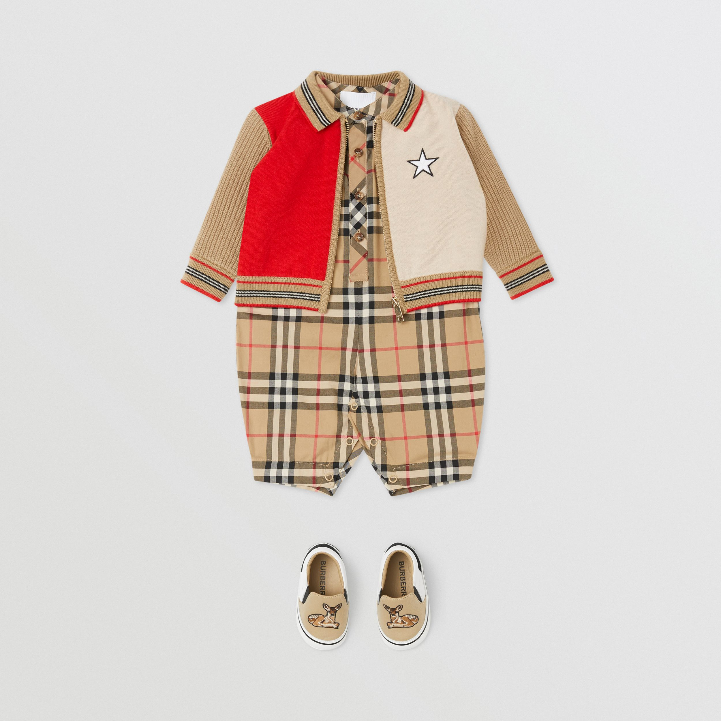 Star Motif Colour Block Wool Blend Jacket - Children | Burberry United Kingdom - 4