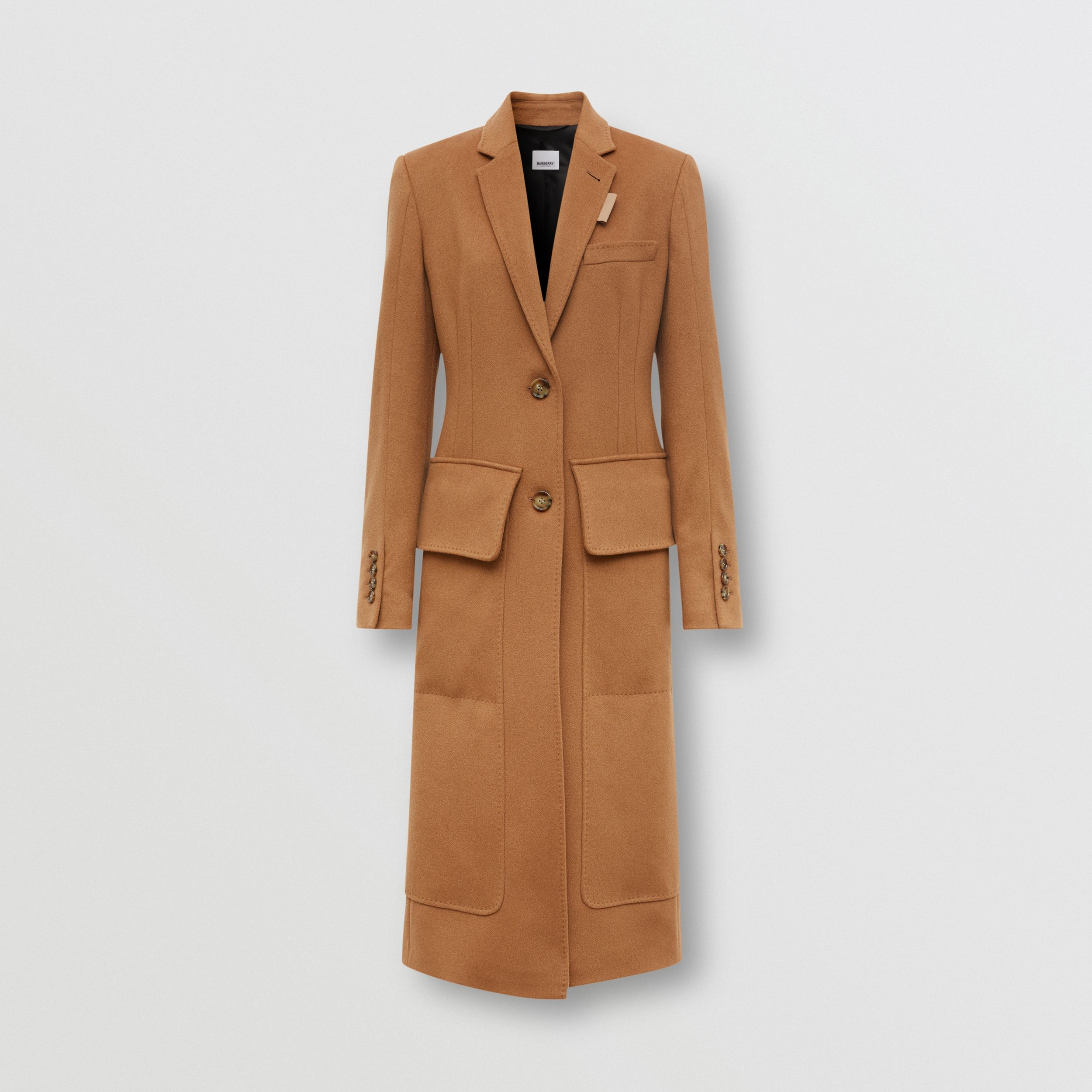 Cashmere Tailored Coat in Bronze - Women | Burberry - 4