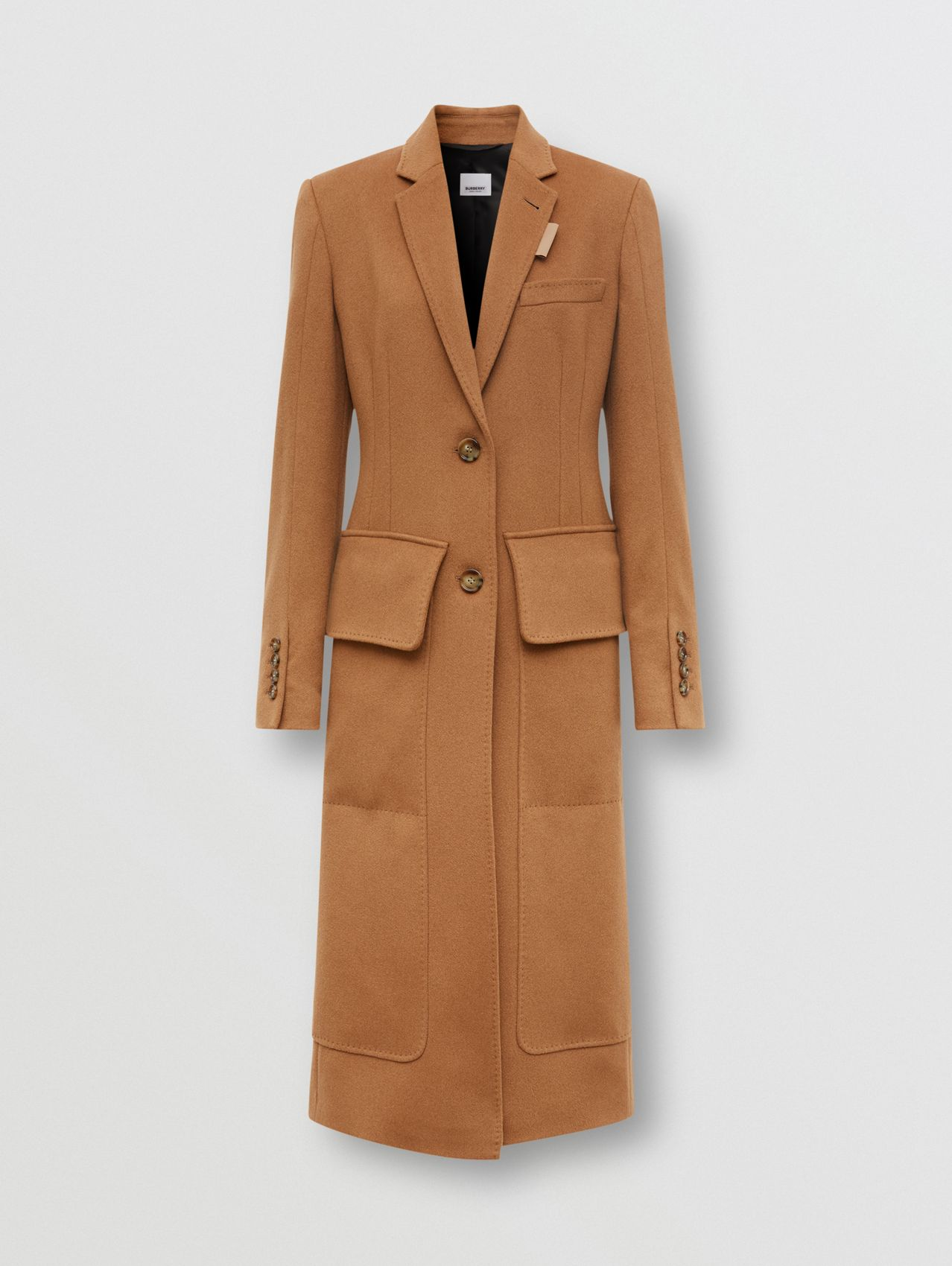 Regenerated Cashmere Tailored Coat in Bronze