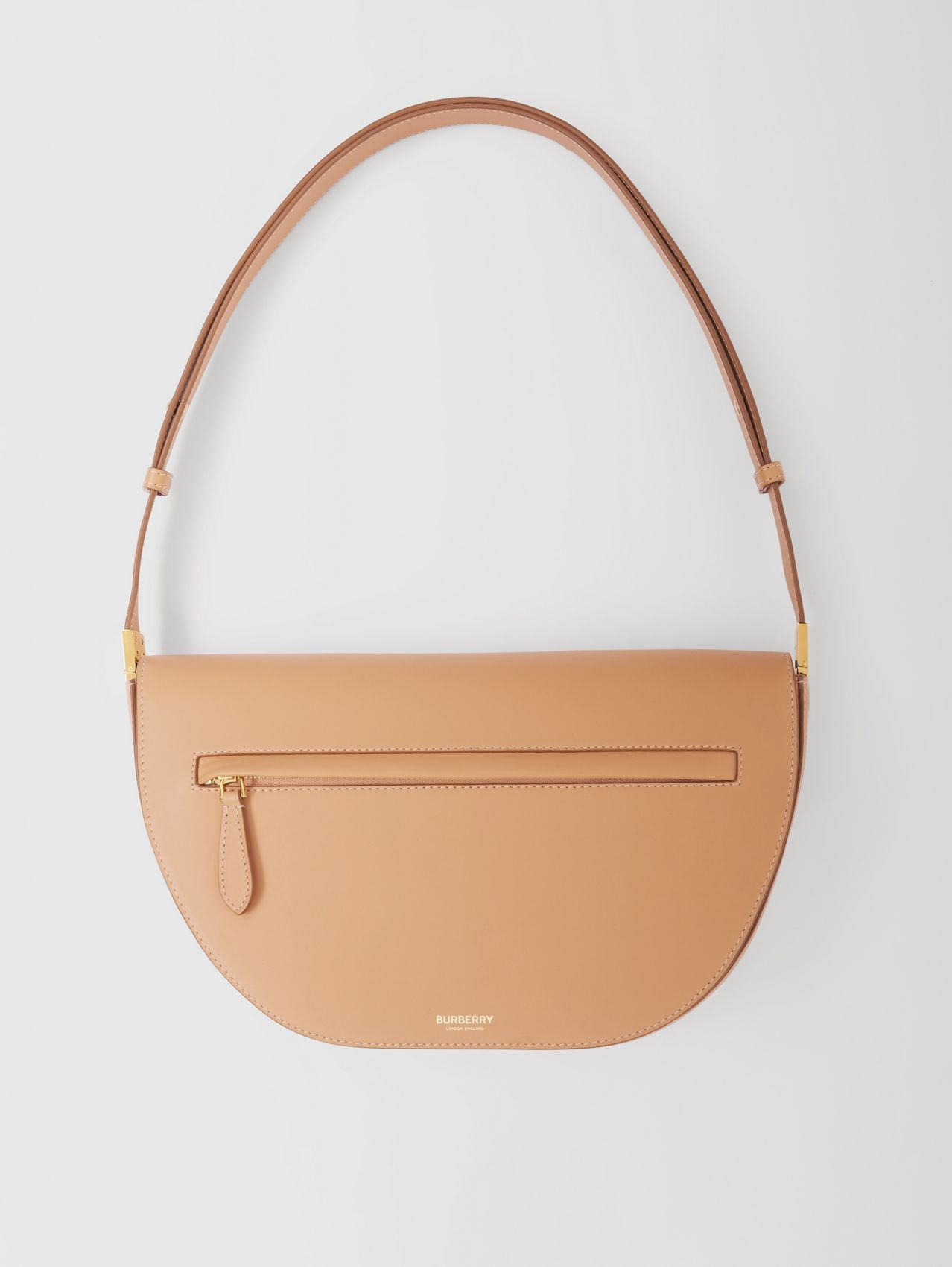 Medium Leather Olympia Bag in Warm Sand