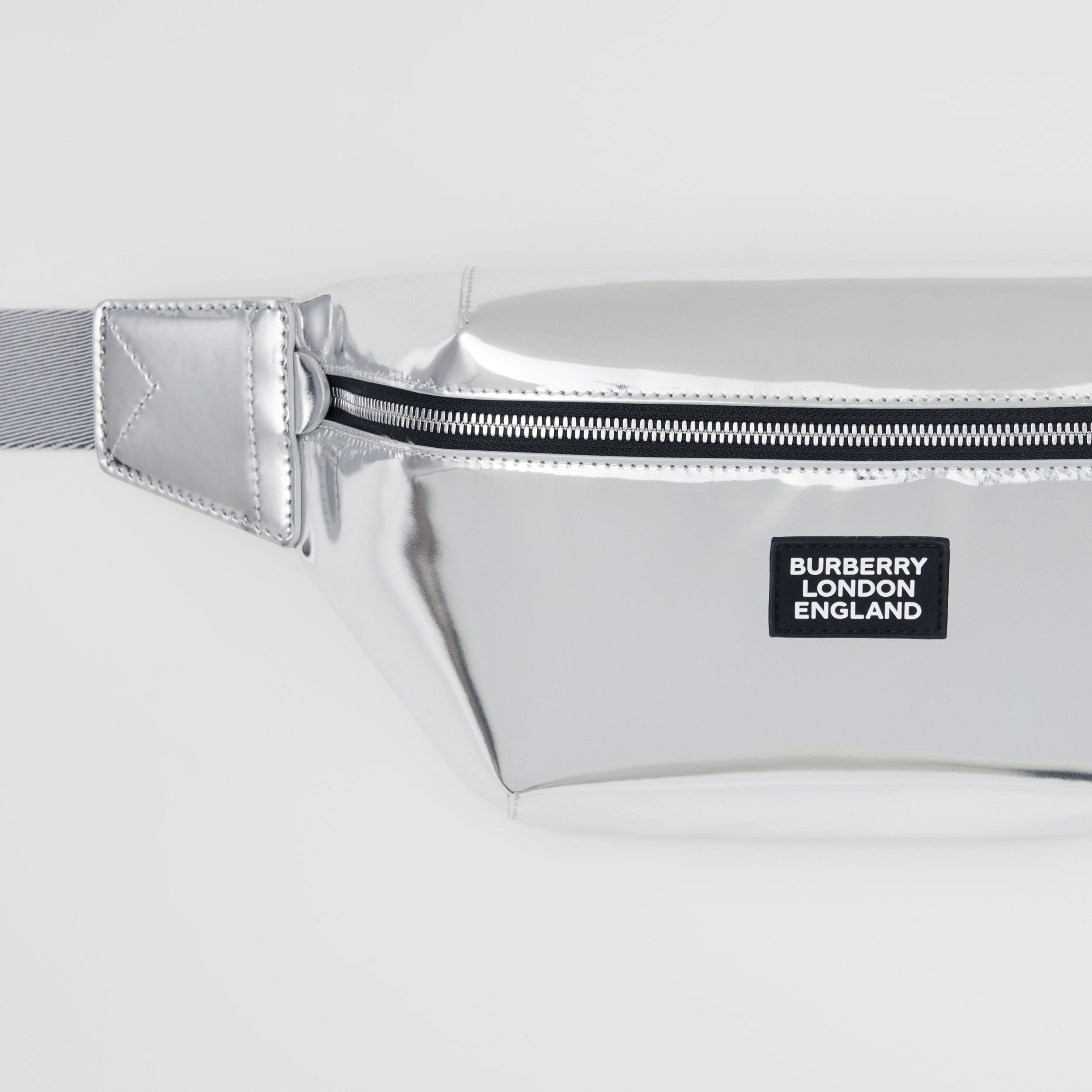 Metallic Leather Sonny Bum Bag in Silver - Men | Burberry - 2