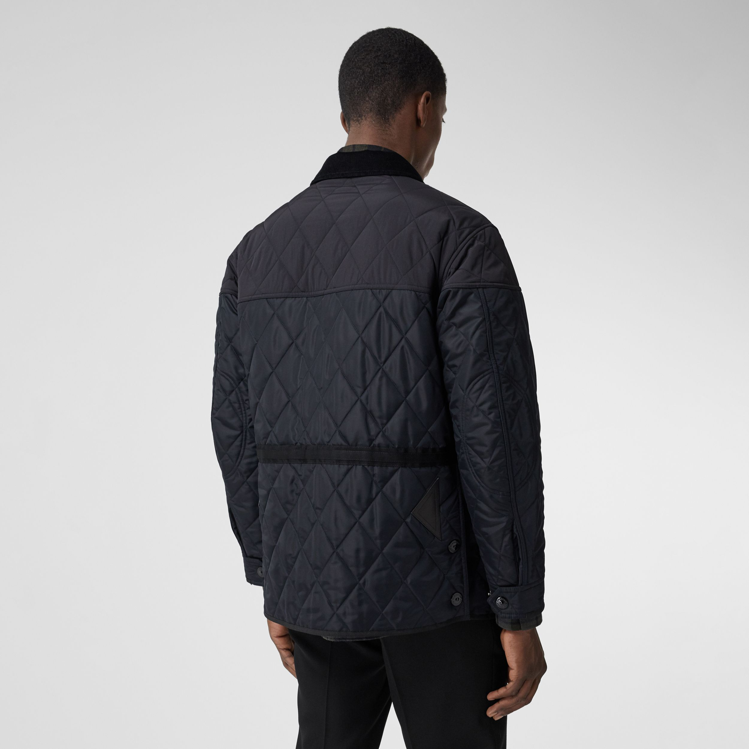 Diamond Quilted Thermoregulated Field Jacket in Navy - Men | Burberry - 3