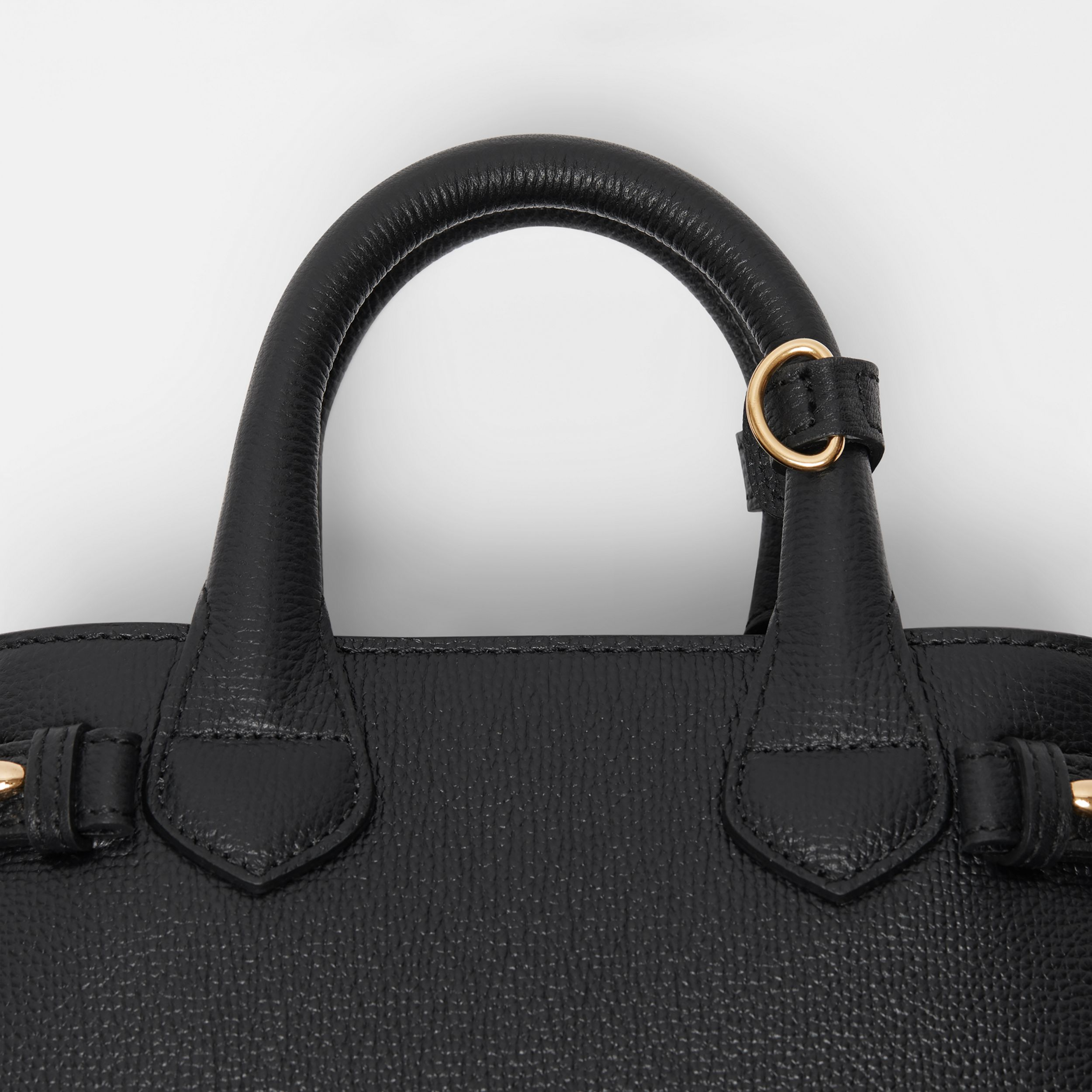 The Baby Banner in Leather and House Check in Black - Women | Burberry - 2