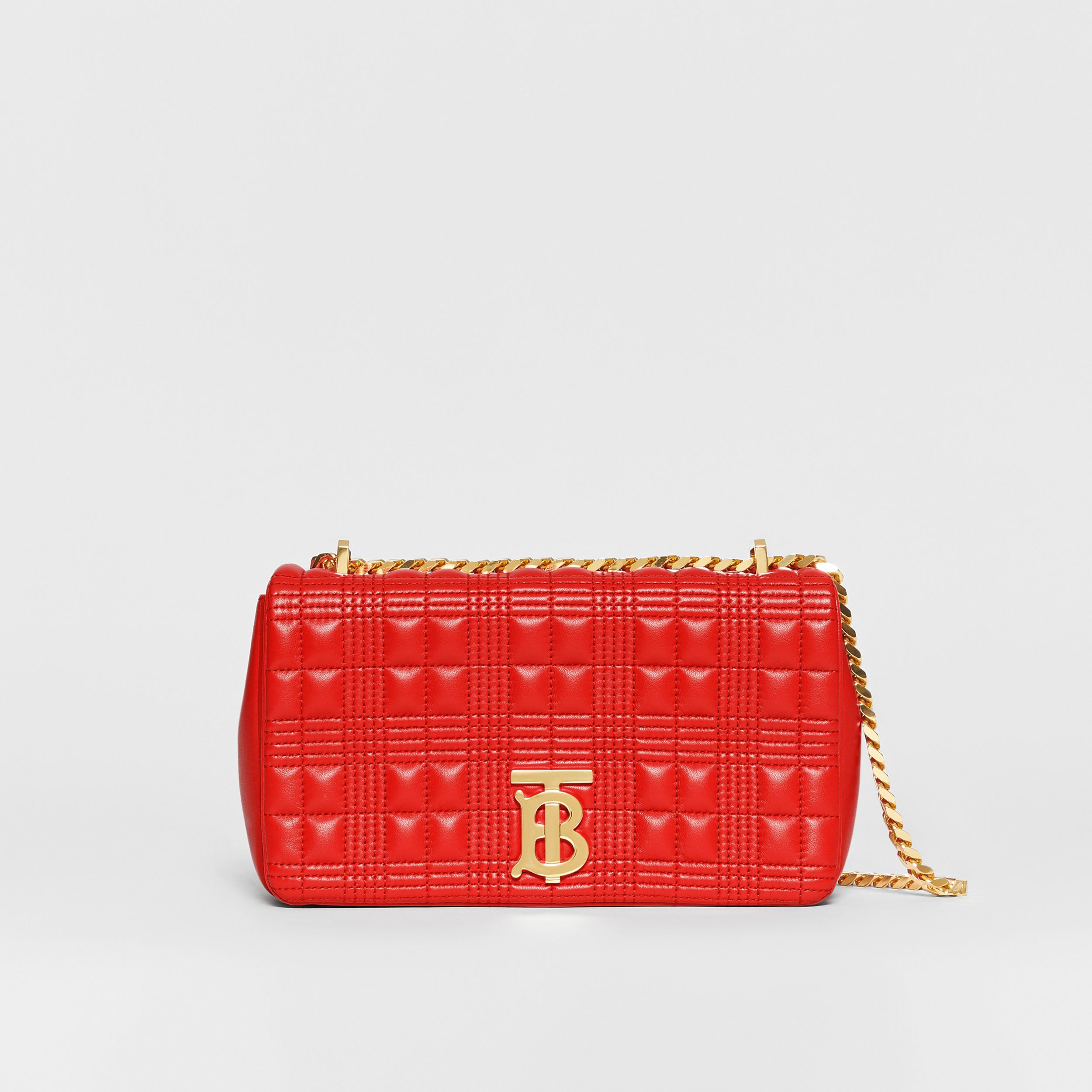Small Quilted Lambskin Lola Bag in Bright Red - Women | Burberry - 1