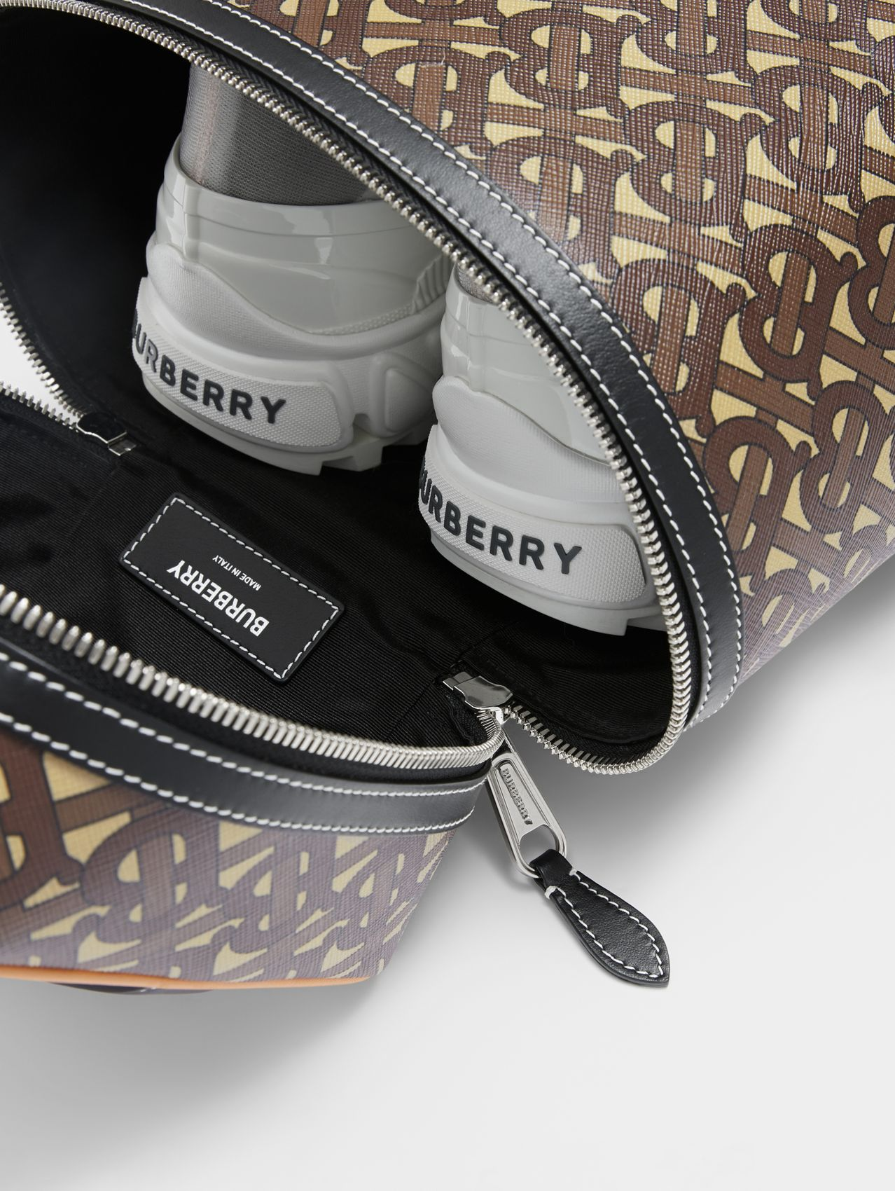 Monogram Print E-canvas Sneaker Bag in Bridle Brown