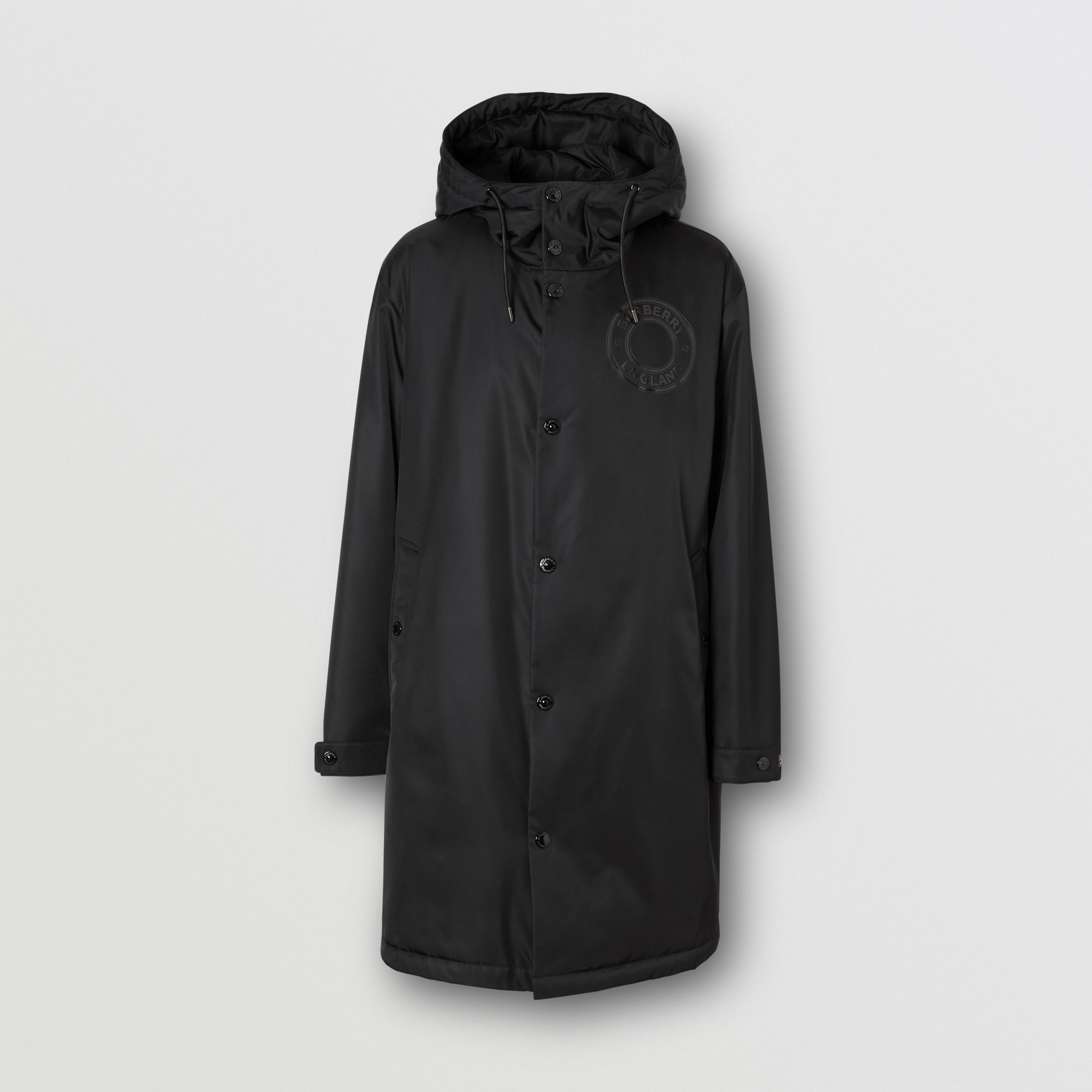 Logo Graphic Technical Twill Parka in Black - Men | Burberry - 4