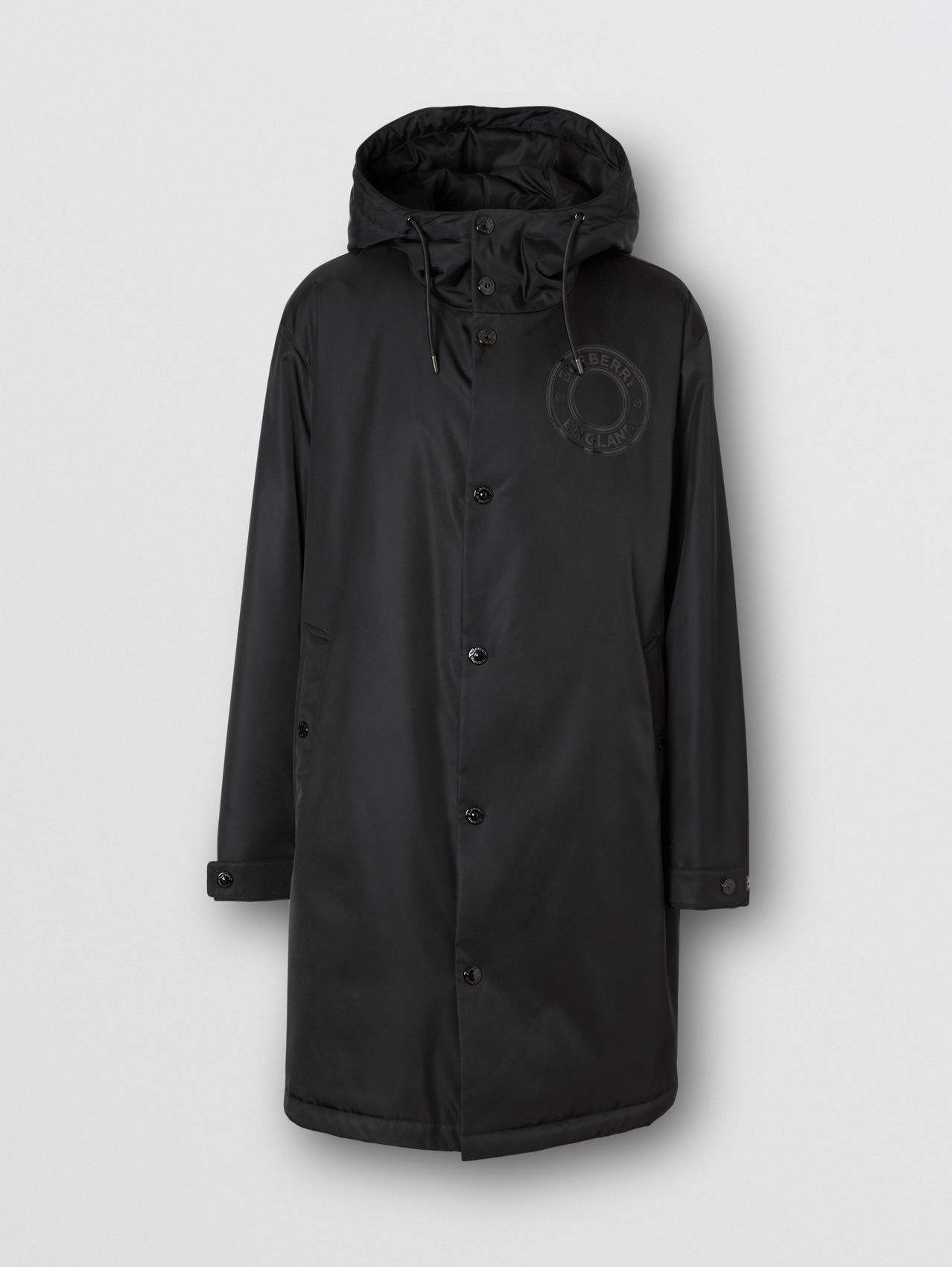 Logo Graphic Technical Twill Parka in Black