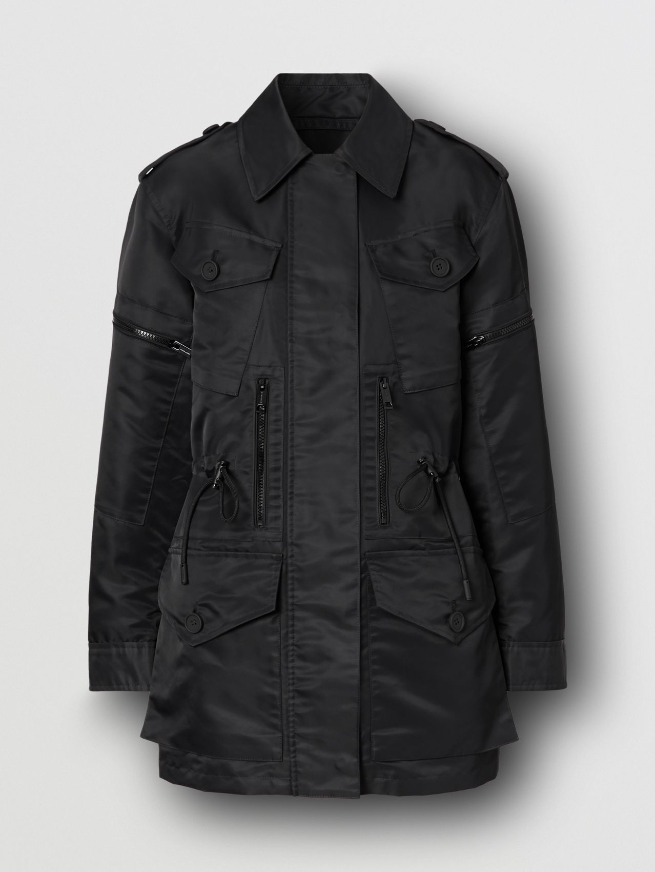 Horseferry Print Recycled Nylon Field Jacket in Black