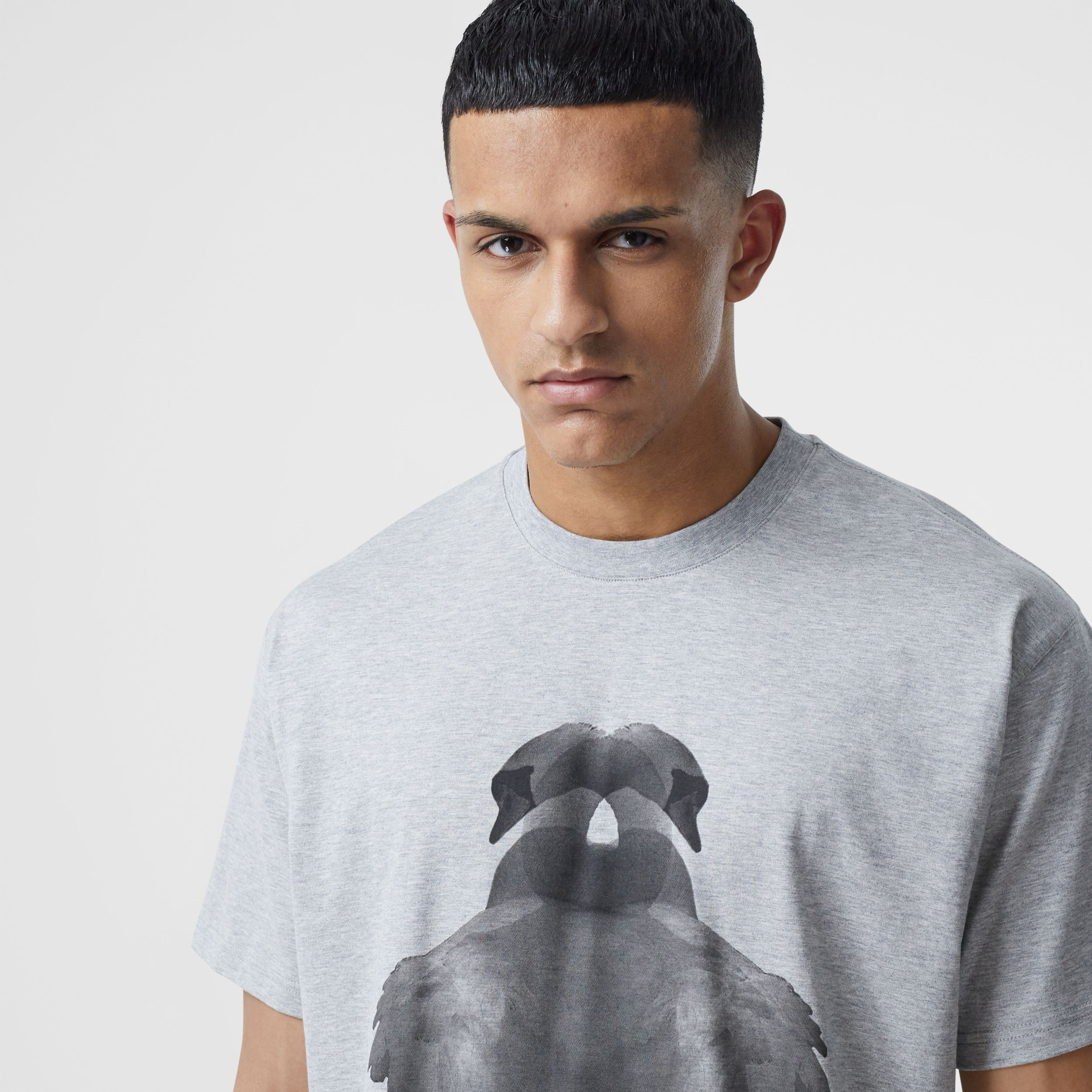 Swan Print Cotton Oversized T-shirt - Men | Burberry Canada - 2