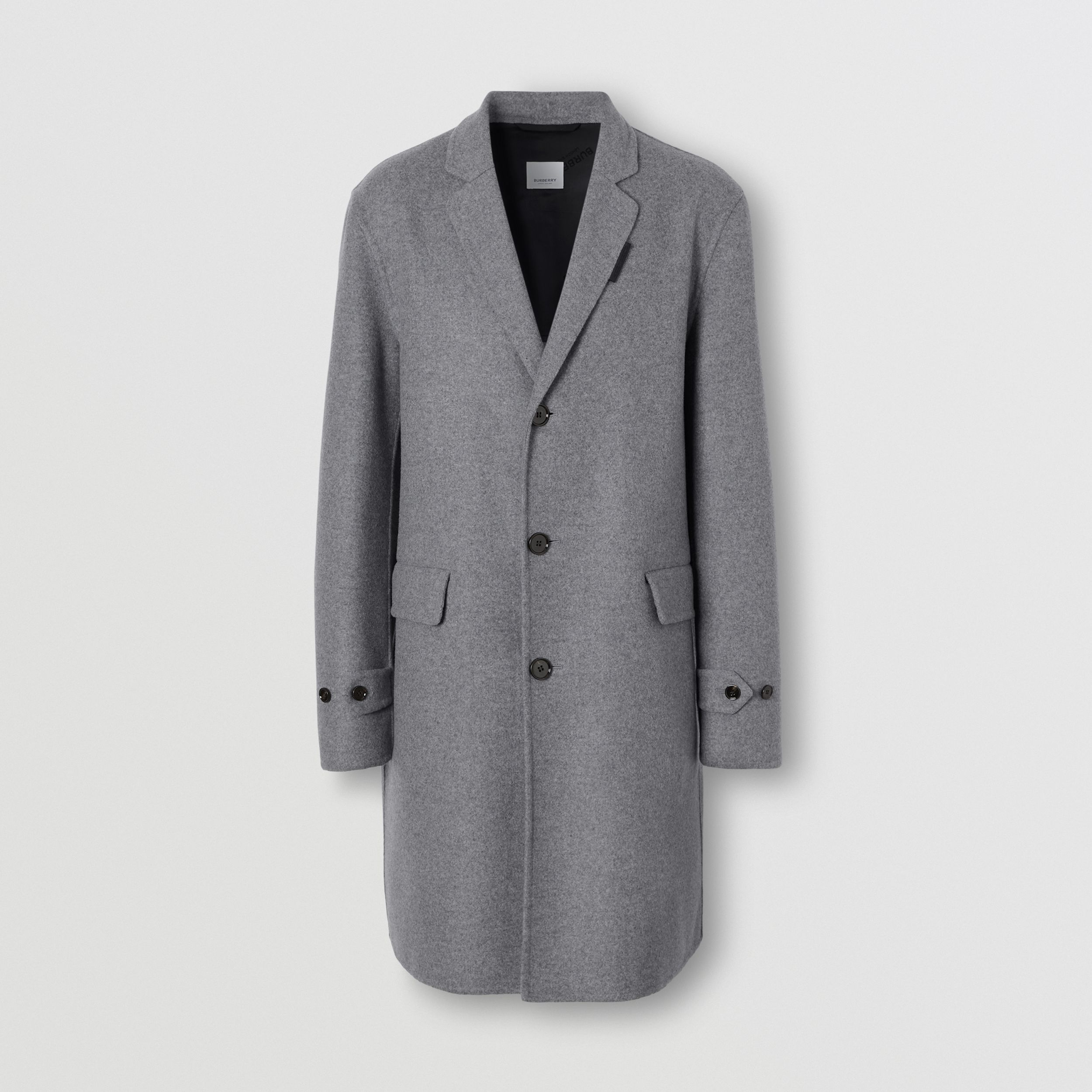 Wool Cashmere Lab Coat in Charcoal - Men | Burberry - 4