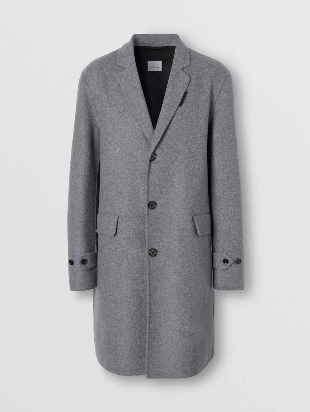 Wool Cashmere Lab Coat in Charcoal