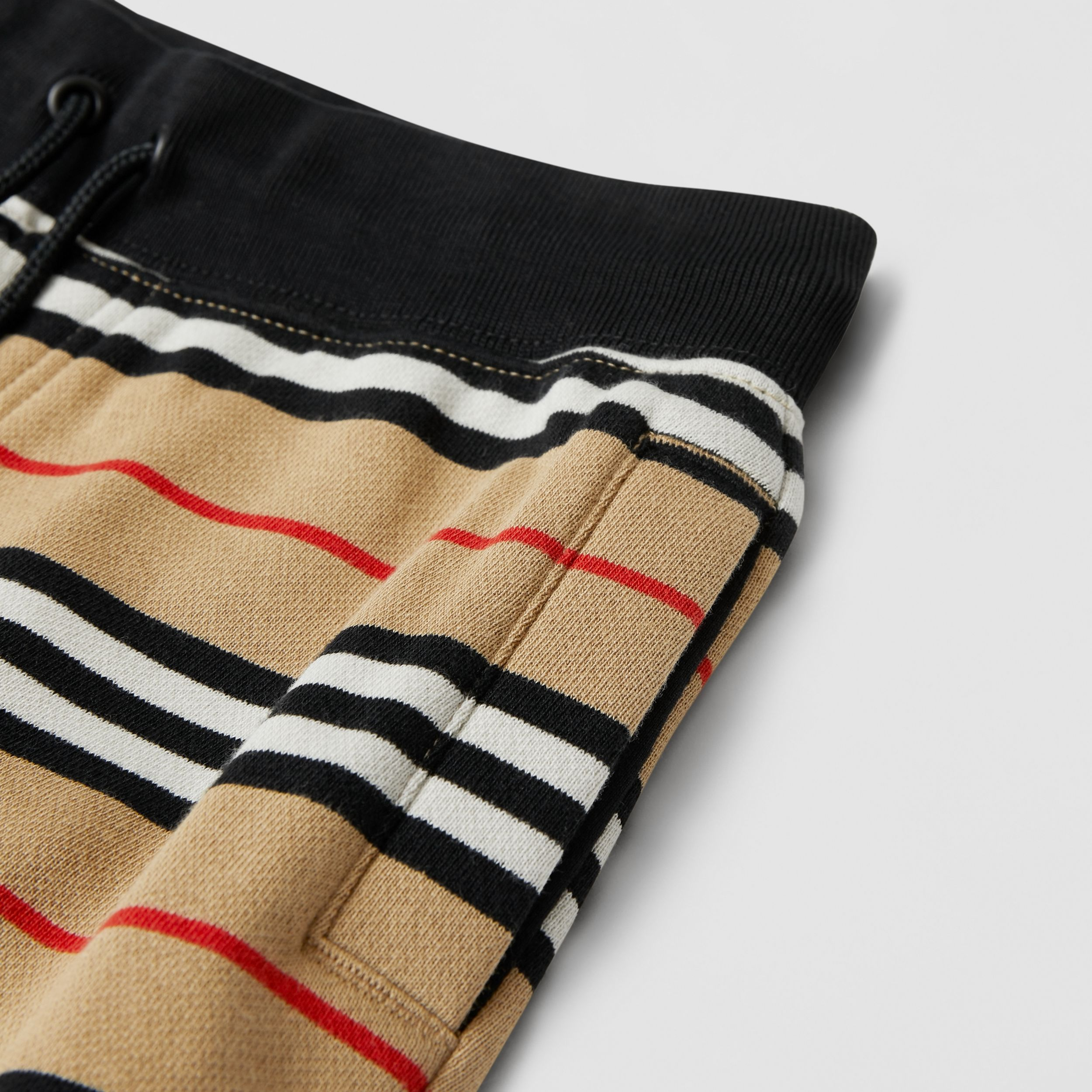 Icon Stripe Cotton Shorts in Archive Beige | Burberry - 2