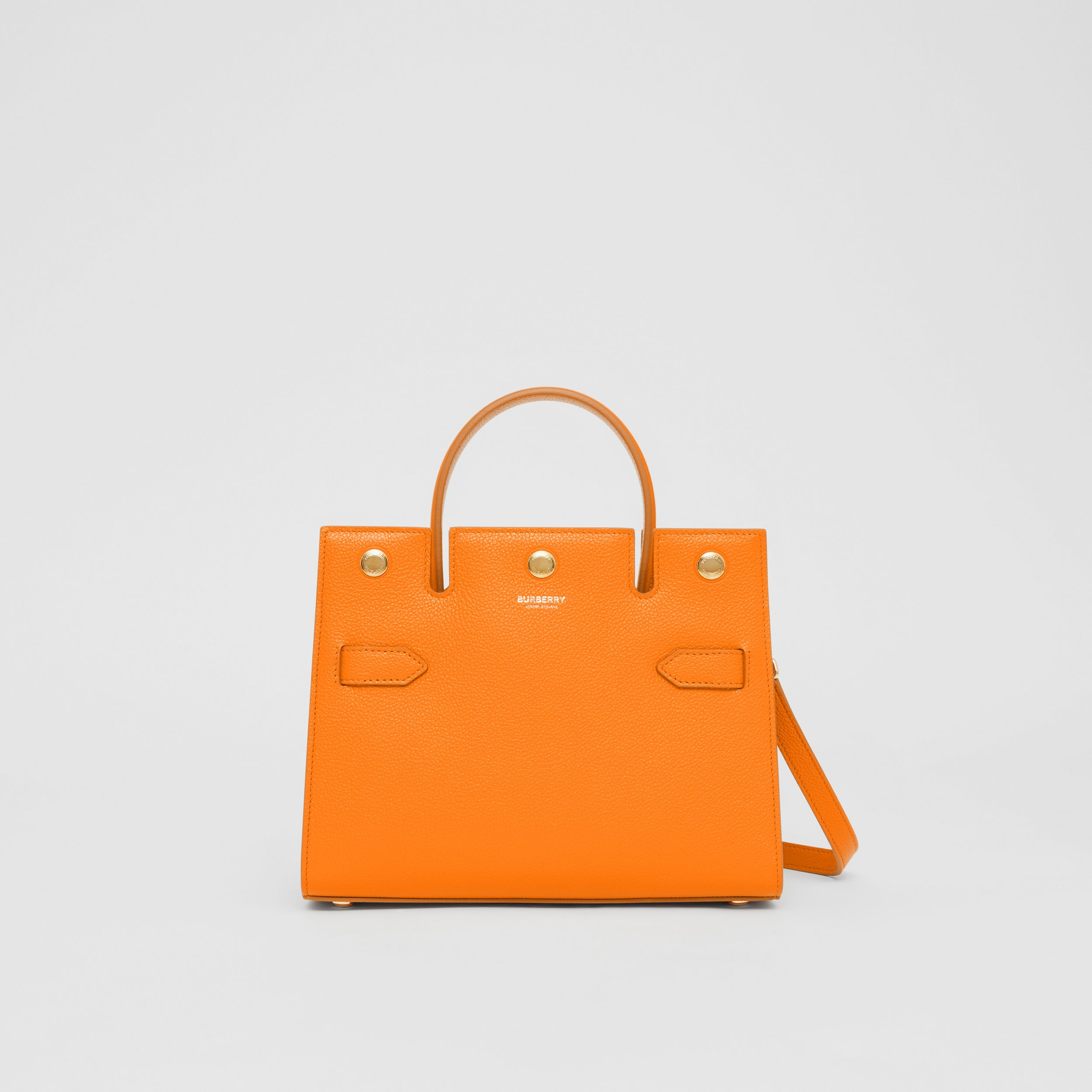 Mini Leather Title Bag in Orange - Women | Burberry Canada - 1