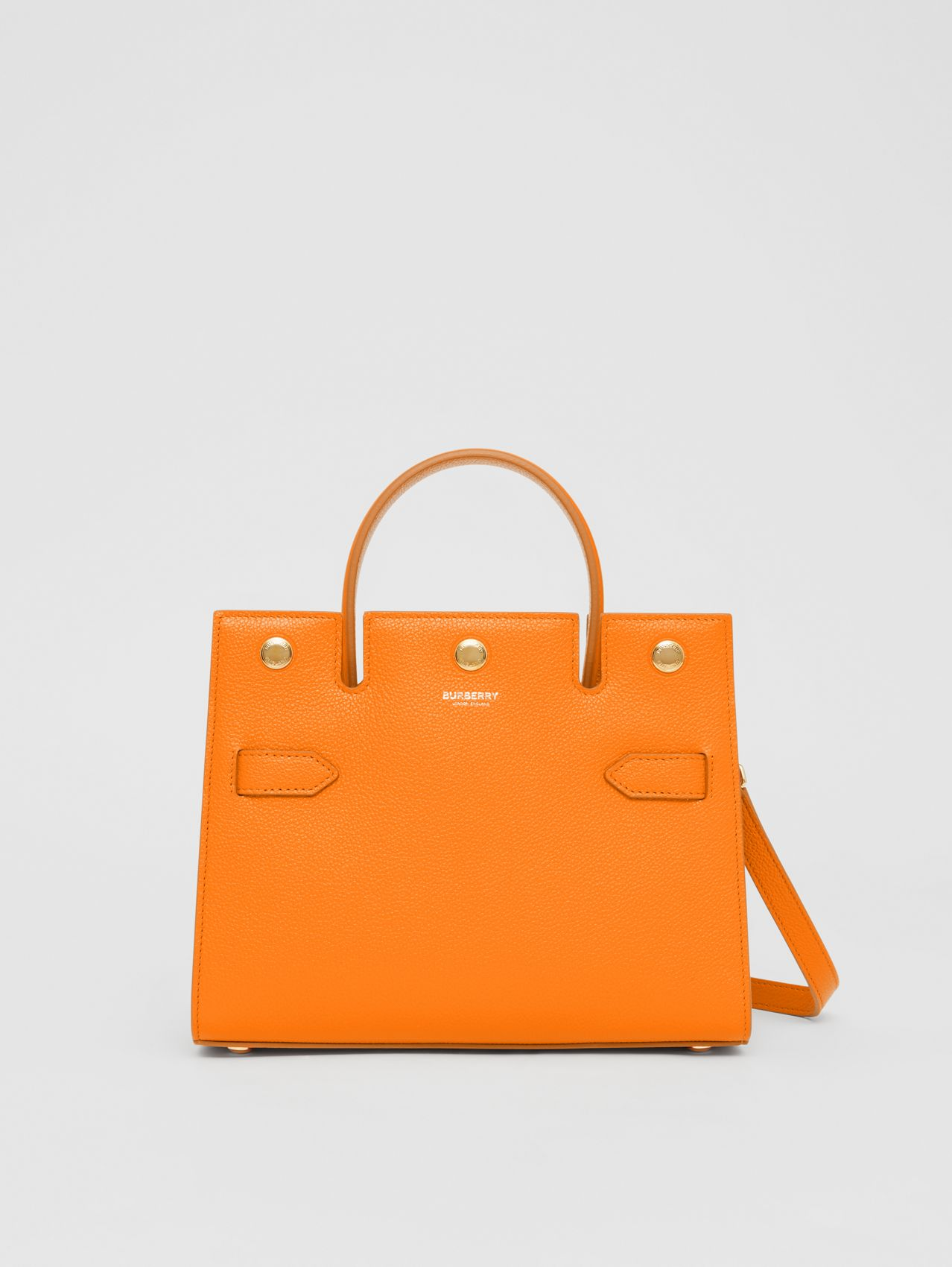 Mini sac Title en cuir (Orange)