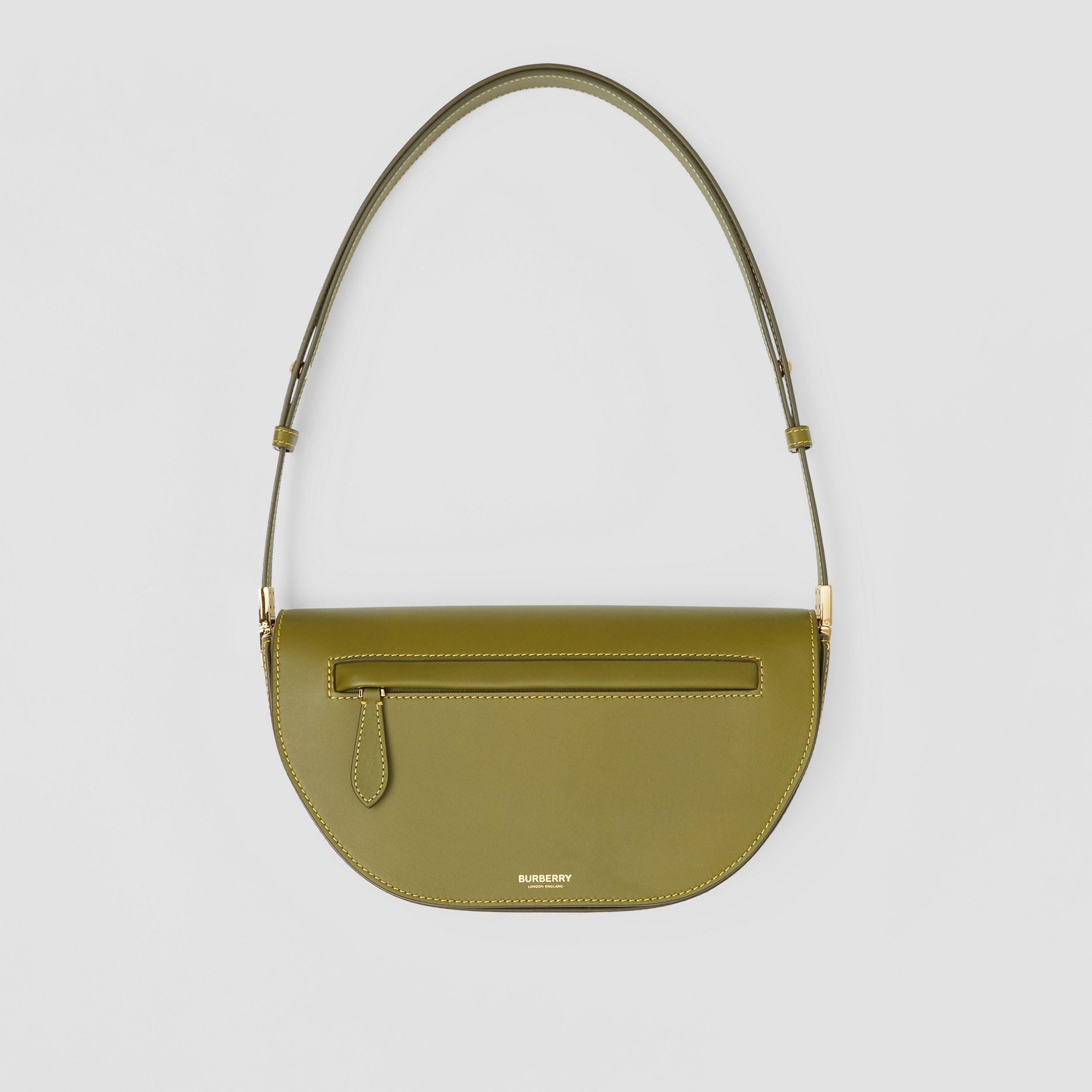 Small Leather Olympia Bag in Juniper Green | Burberry - 1