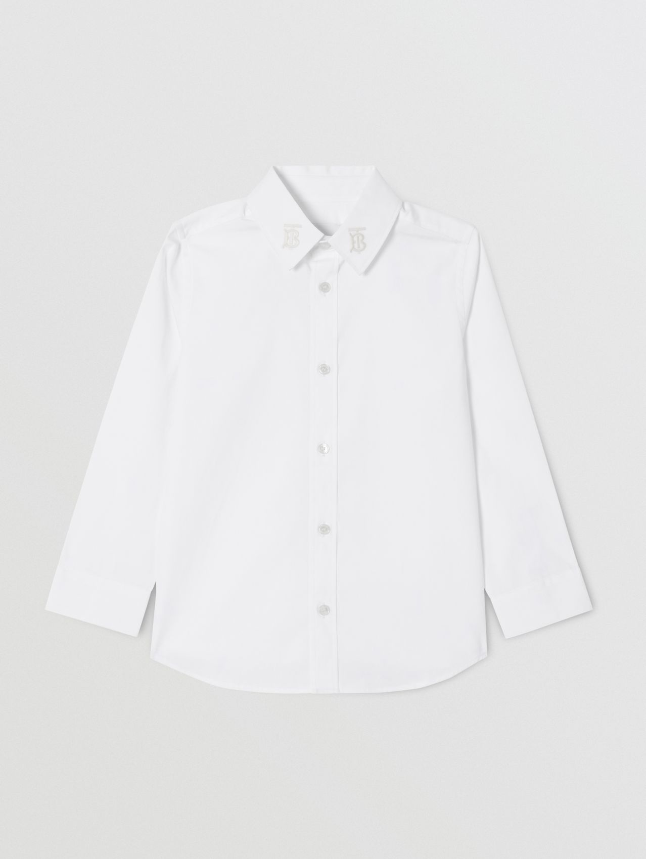 Monogram Motif Stretch Cotton Poplin Shirt