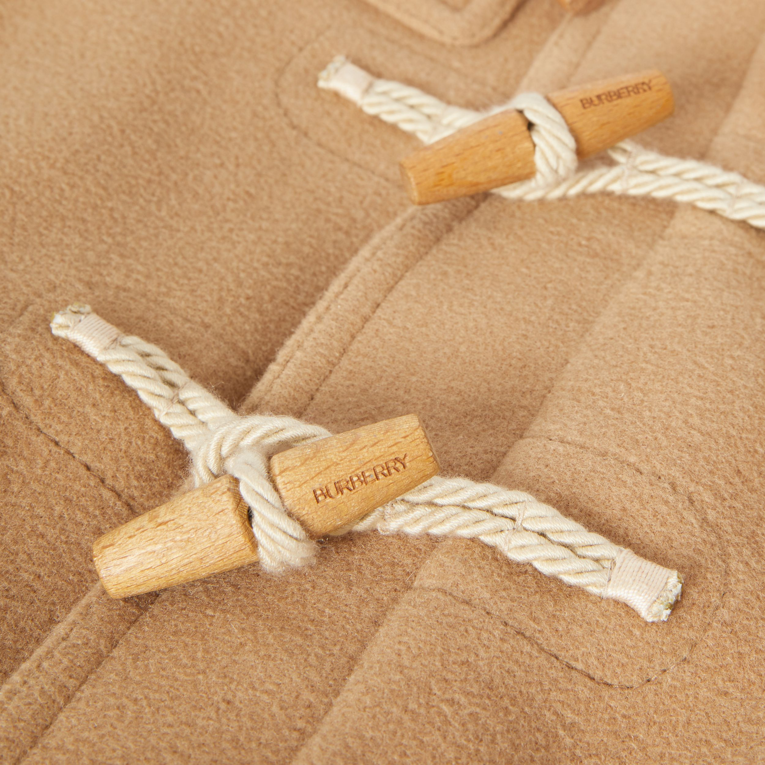 Double-faced Wool Duffle Coat in Antique Yellow | Burberry Australia - 2