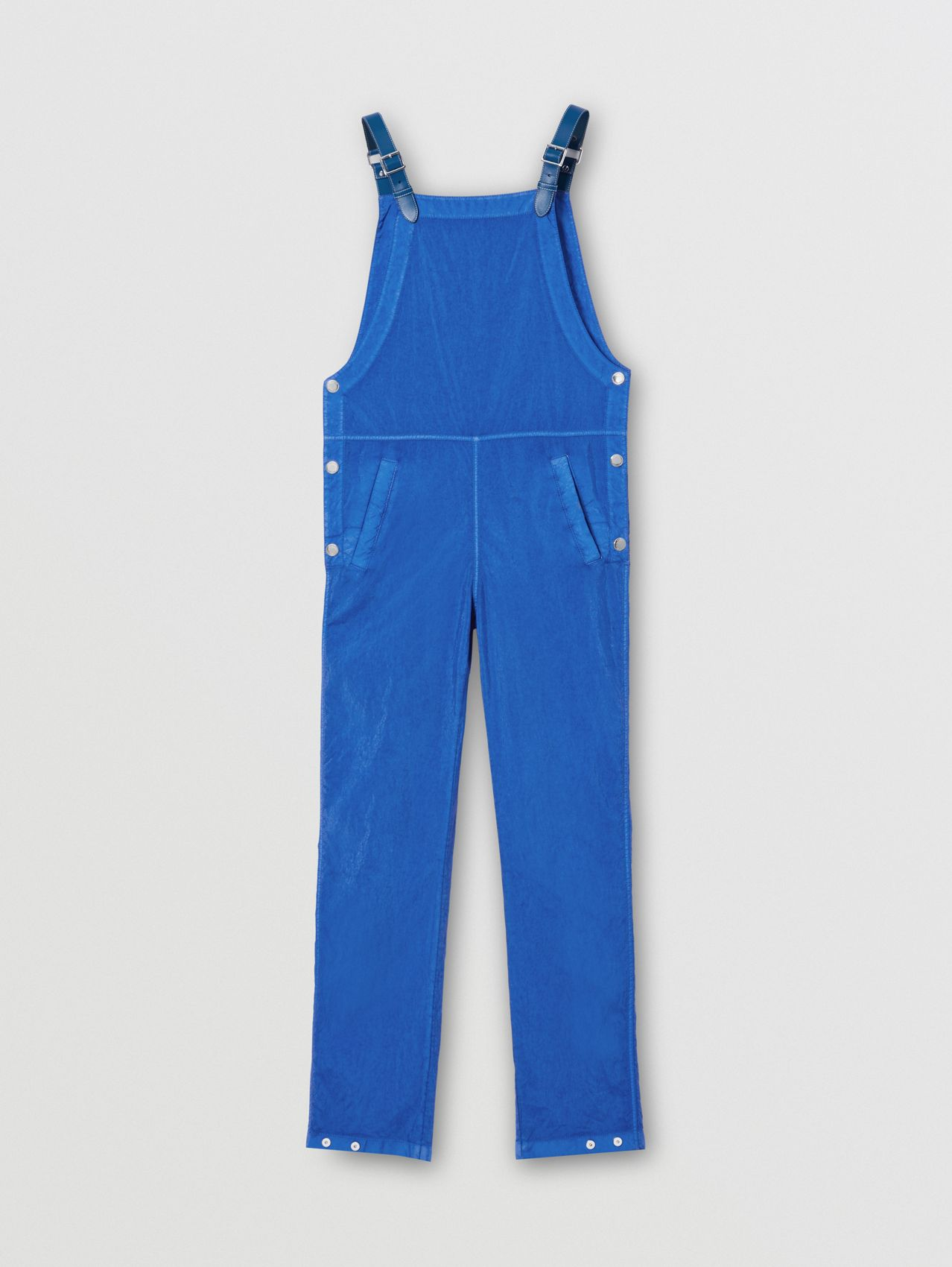 Technical Canvas Bib-front Trousers in Warm Royal Blue