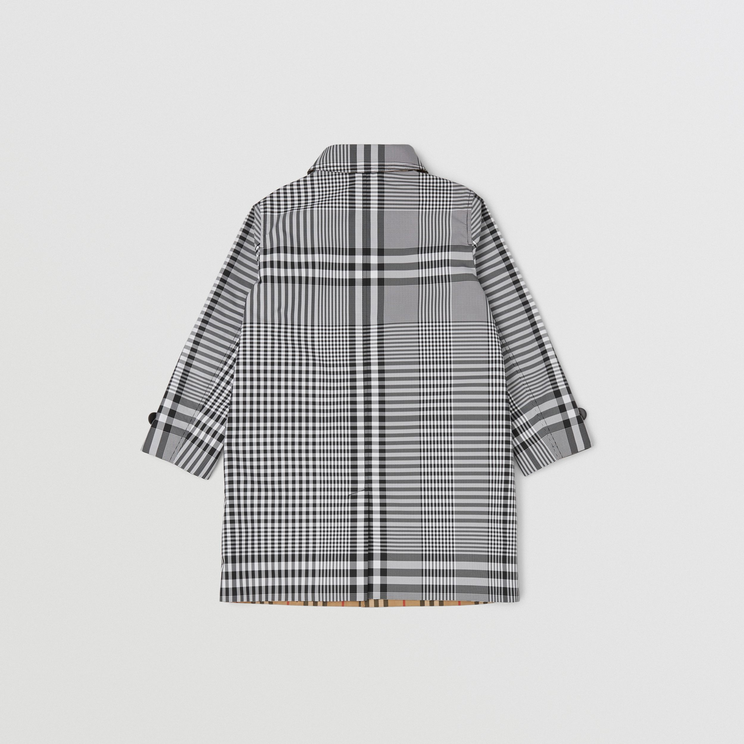 Reversible Check Car Coat in Black | Burberry Hong Kong S.A.R. - 4