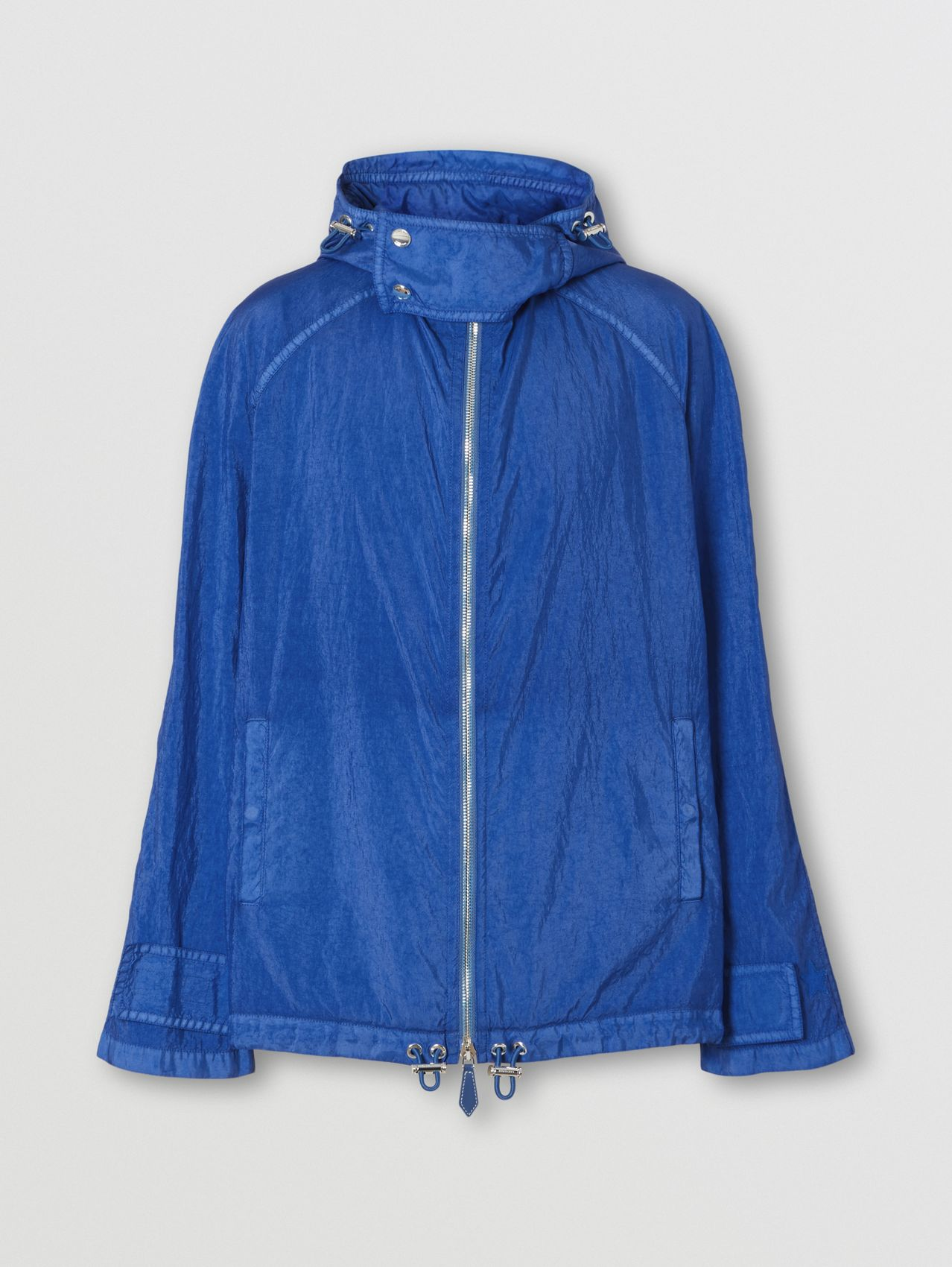 Technical Canvas Hooded Jacket in Warm Royal Blue