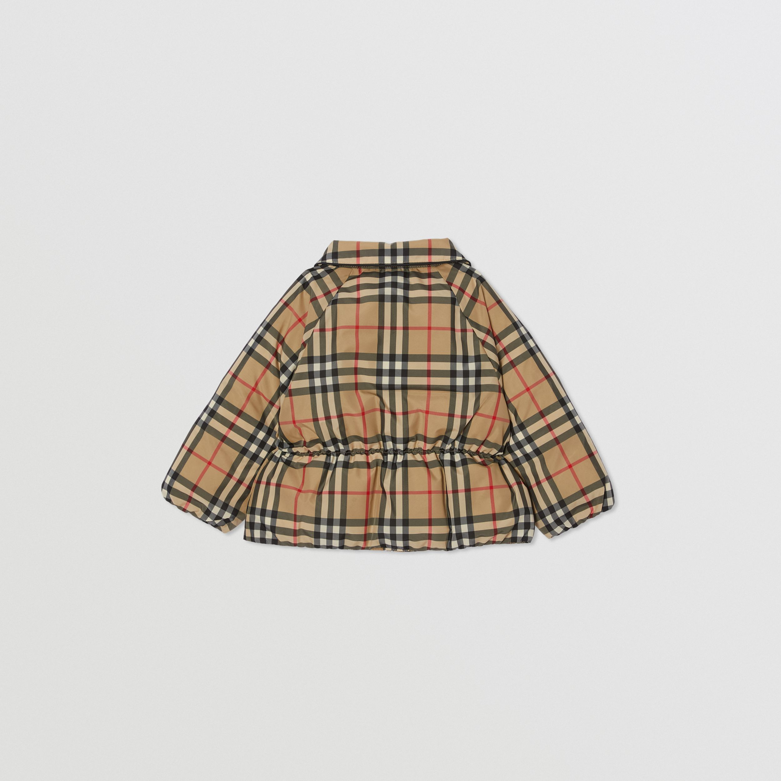 Vintage Check Down-filled Recycled Polyester Jacket in Archive Beige - Children | Burberry - 4