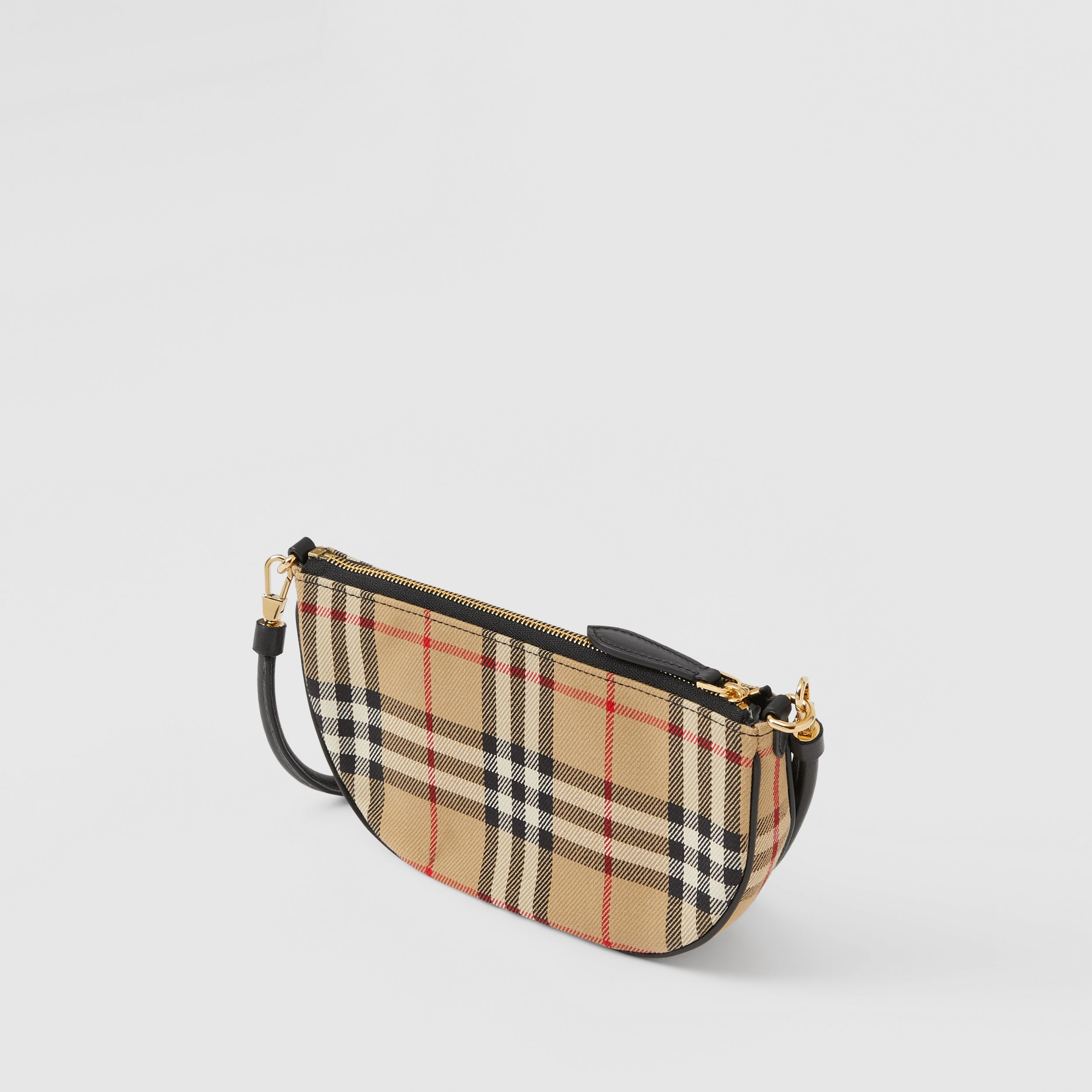 Vintage Check Cotton Olympia Pouch in Archive Beige - Women | Burberry United States - 4