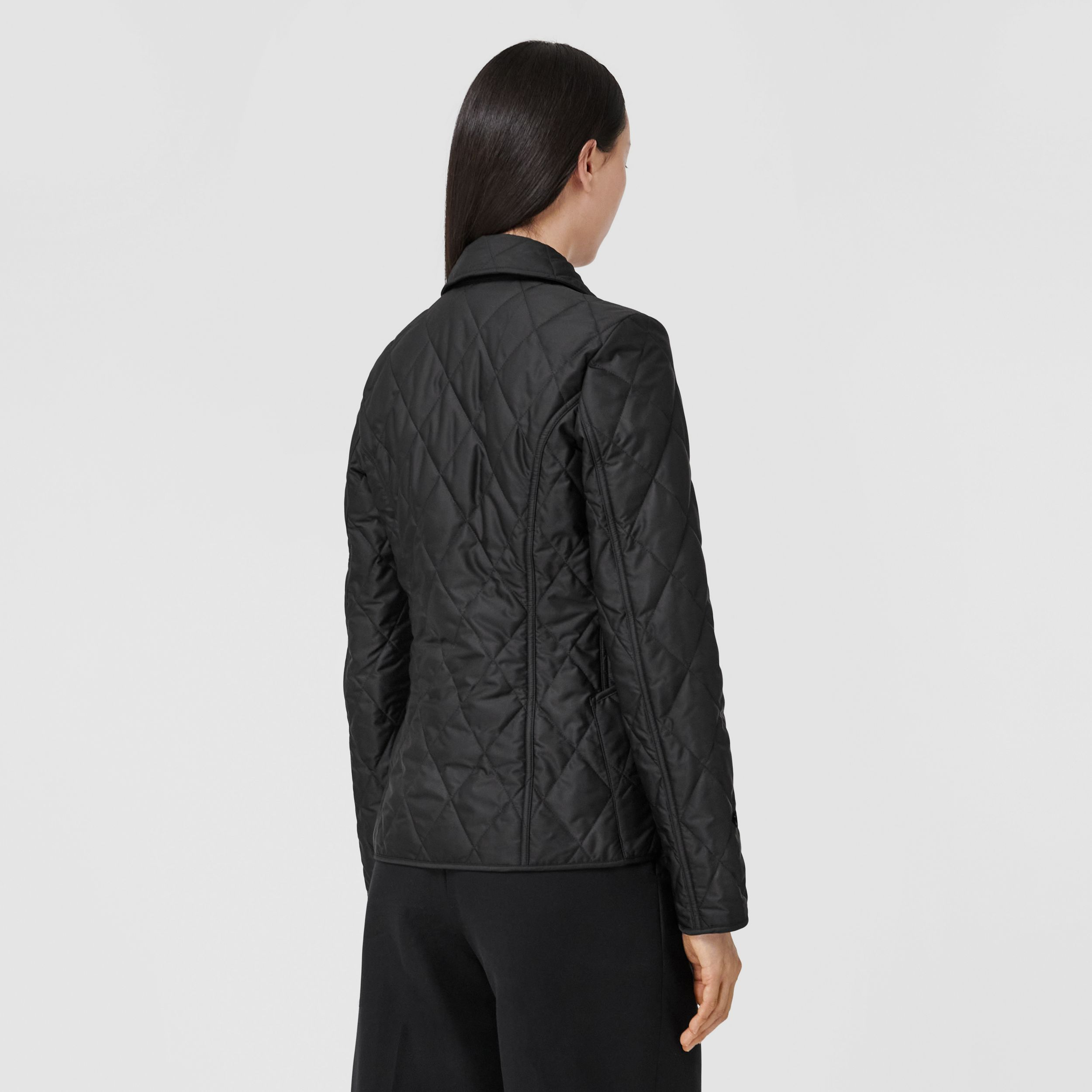 Diamond Quilted Thermoregulated Jacket in Black - Women | Burberry - 3