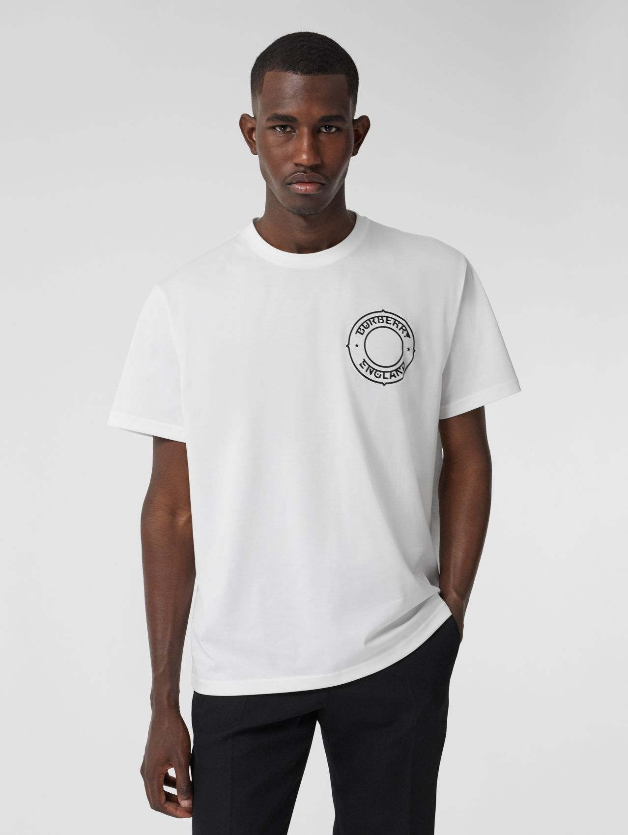 Logo Graphic Cotton Oversized T-shirt in White