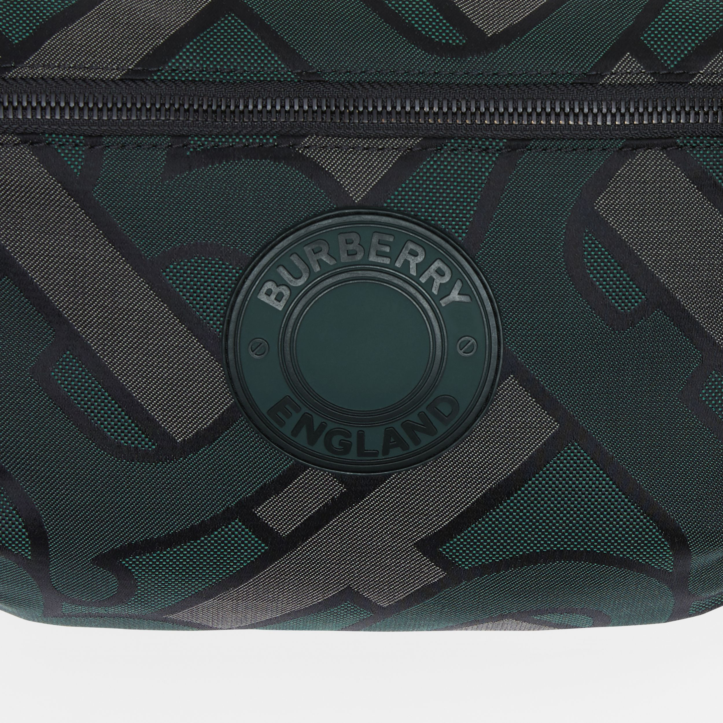 Monogram Recycled Polyester Sonny Bum Bag in Forest Green - Men | Burberry - 2