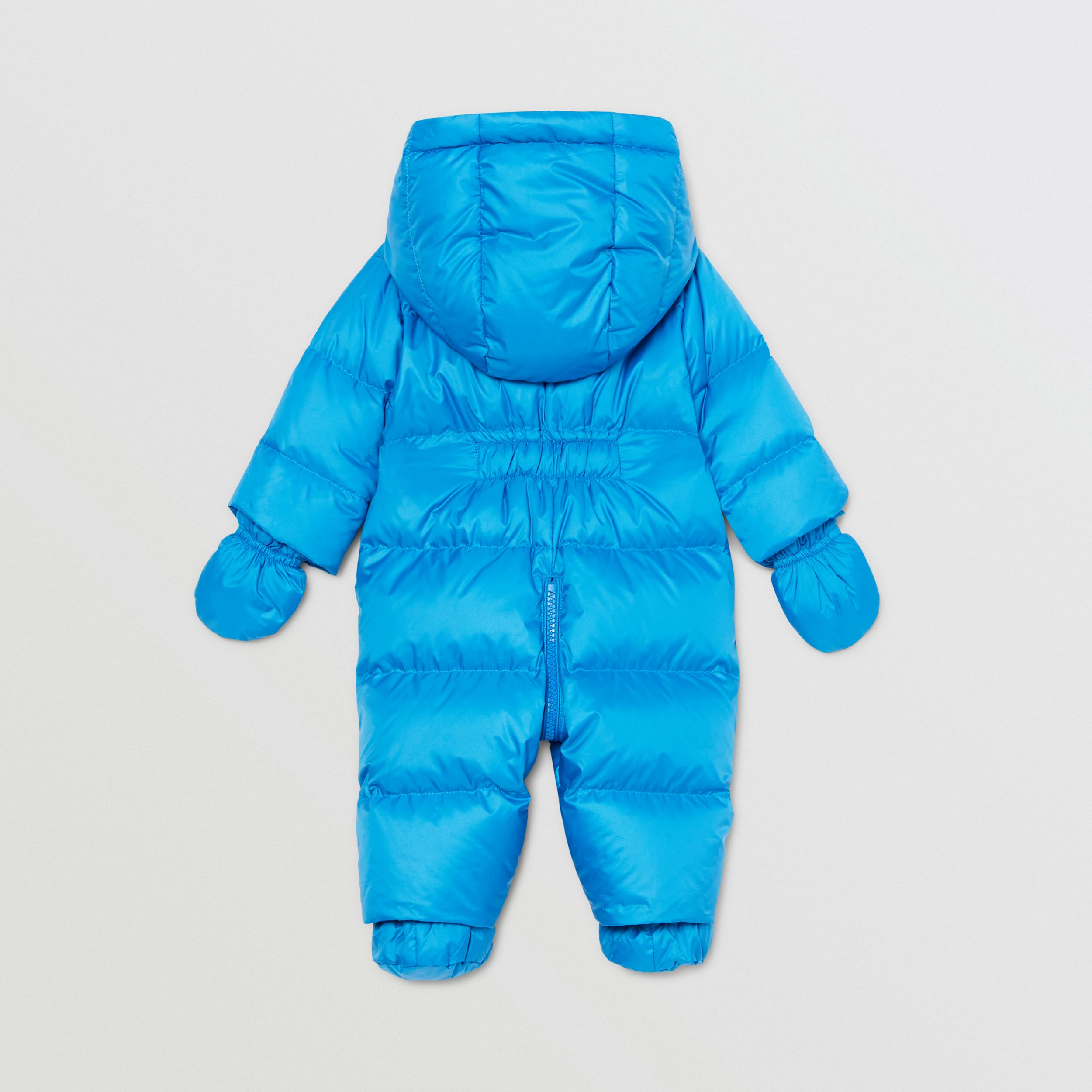 Logo Appliqué Puffer Suit in Cerulean Blue - Children | Burberry - 3